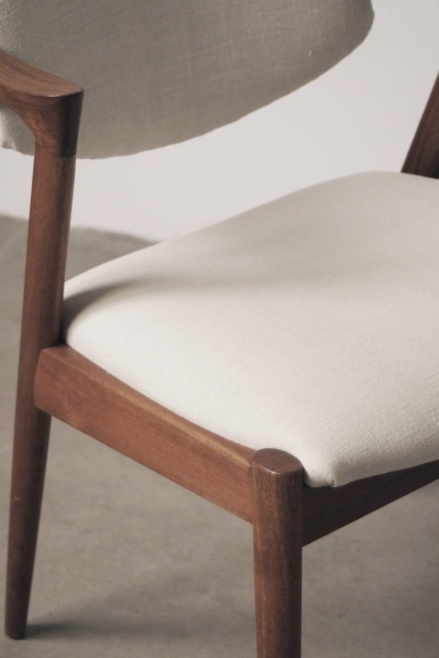 silla de diseño kai kristiansen de calidad danesa