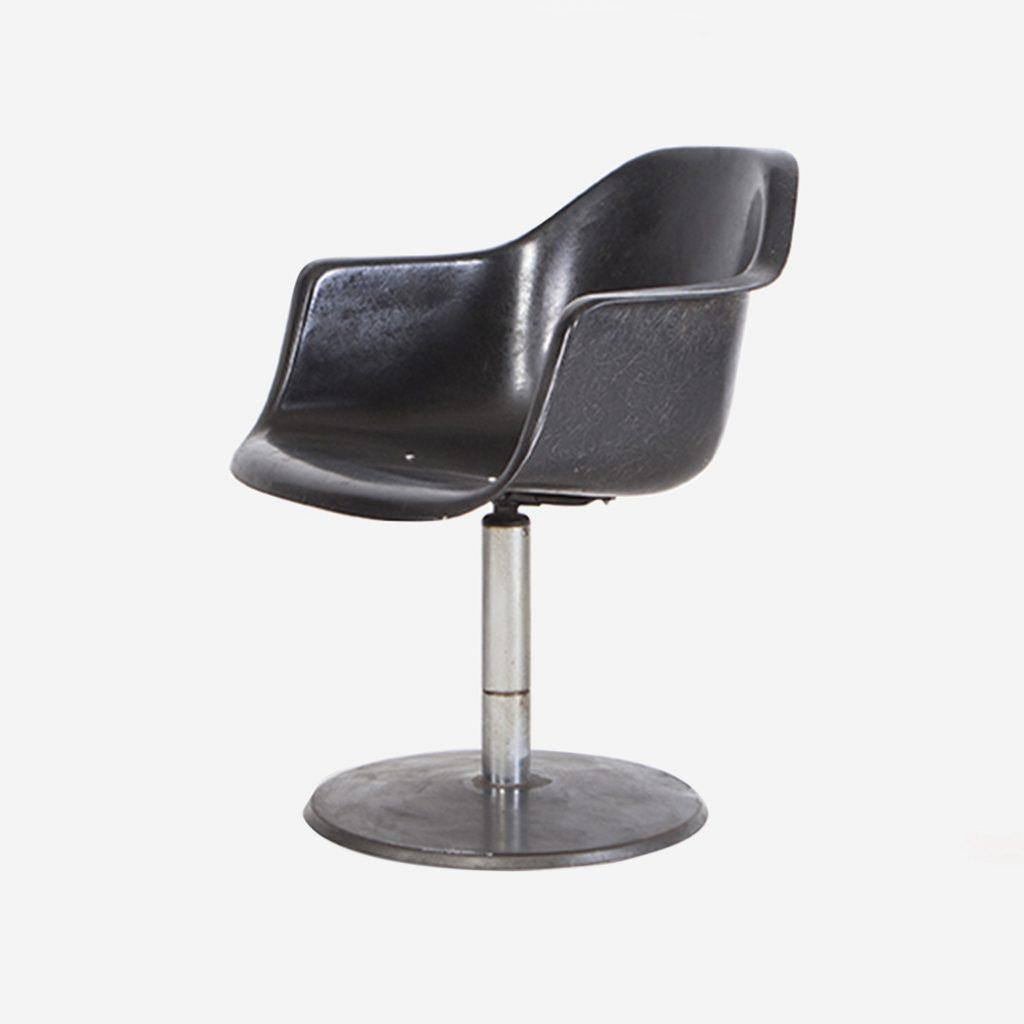 silla de fibra de vidrio eames fiberglass de diseño rotatoria de escritorio de trabajo de oficina
