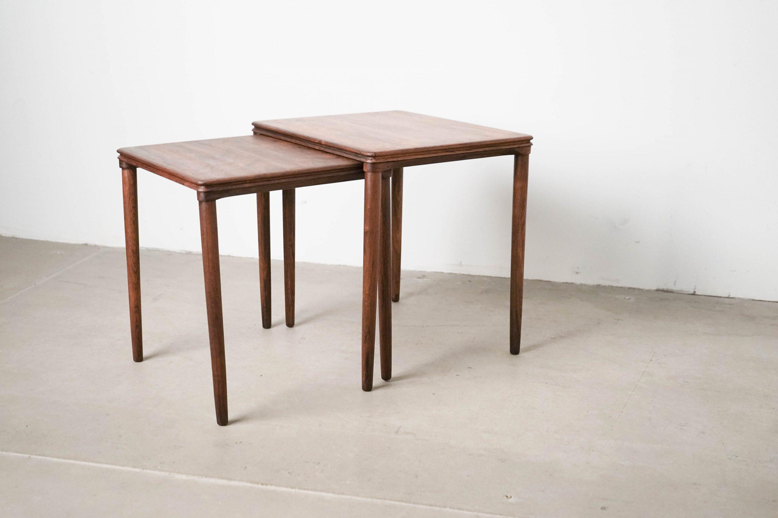 mesa de madera de palosanto teca de diseño calidad vintage 60s