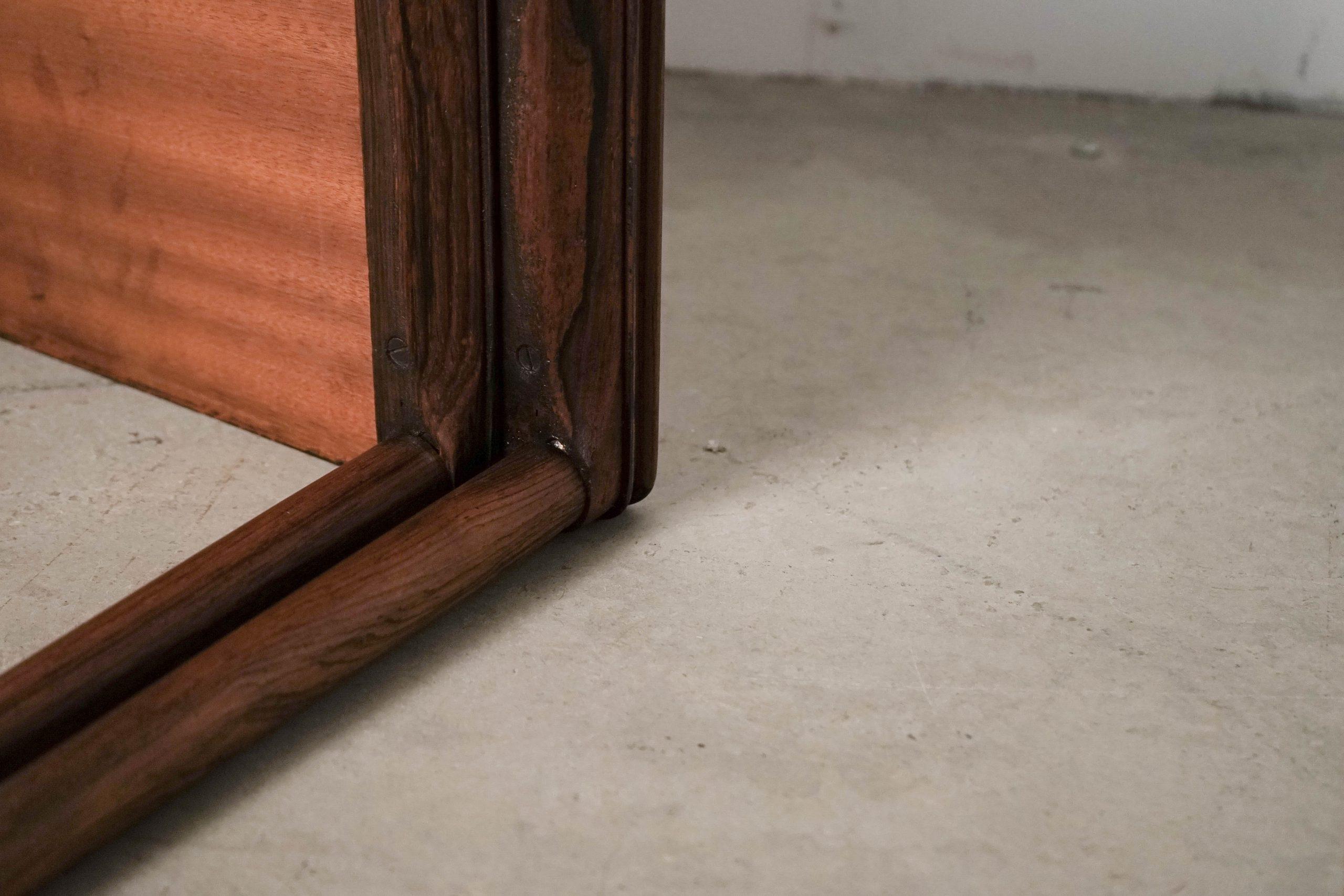 mesa de teca palosanto de madera de calidad hecha a mano ebanista