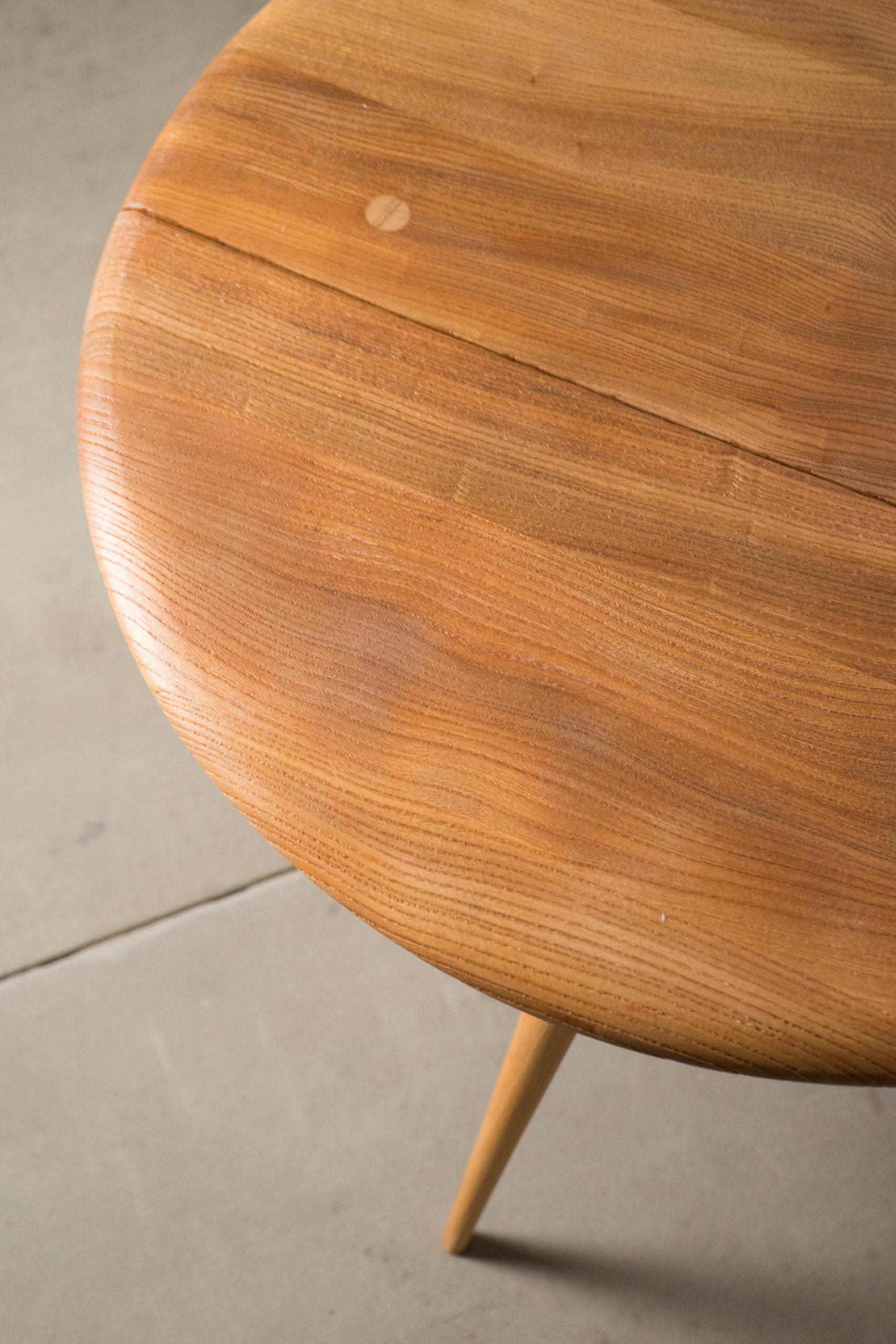 mesa ercol auxiliar vintage de madera de olmo salon salita