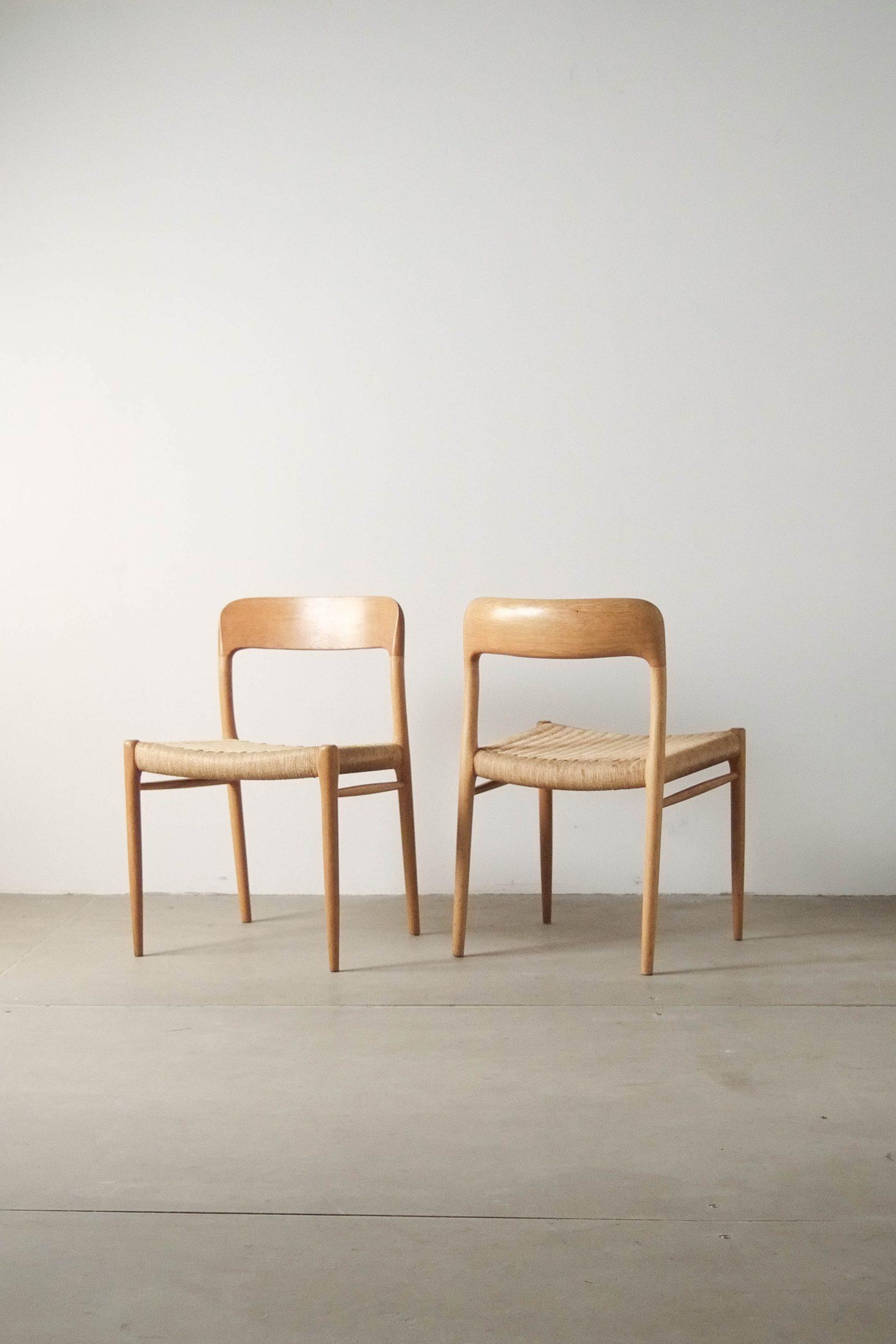 silla moller de comedor de madera de roble
