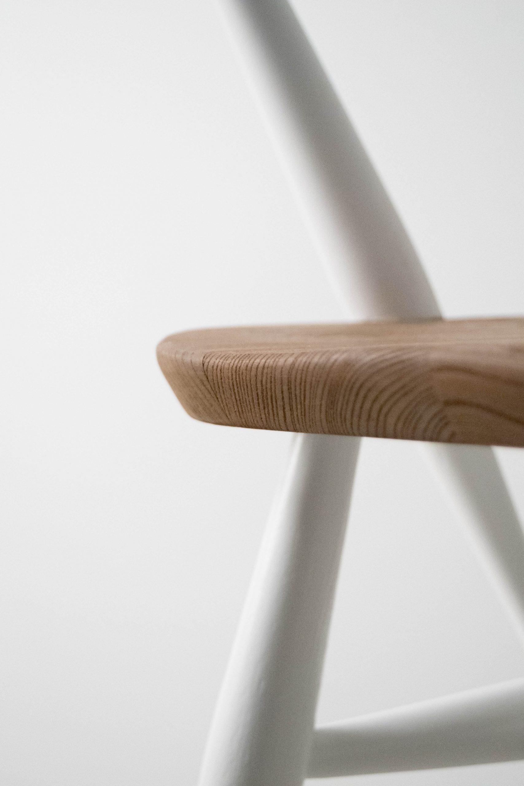 detalle de madera ebanista de madera silla de comedor silla de diseño