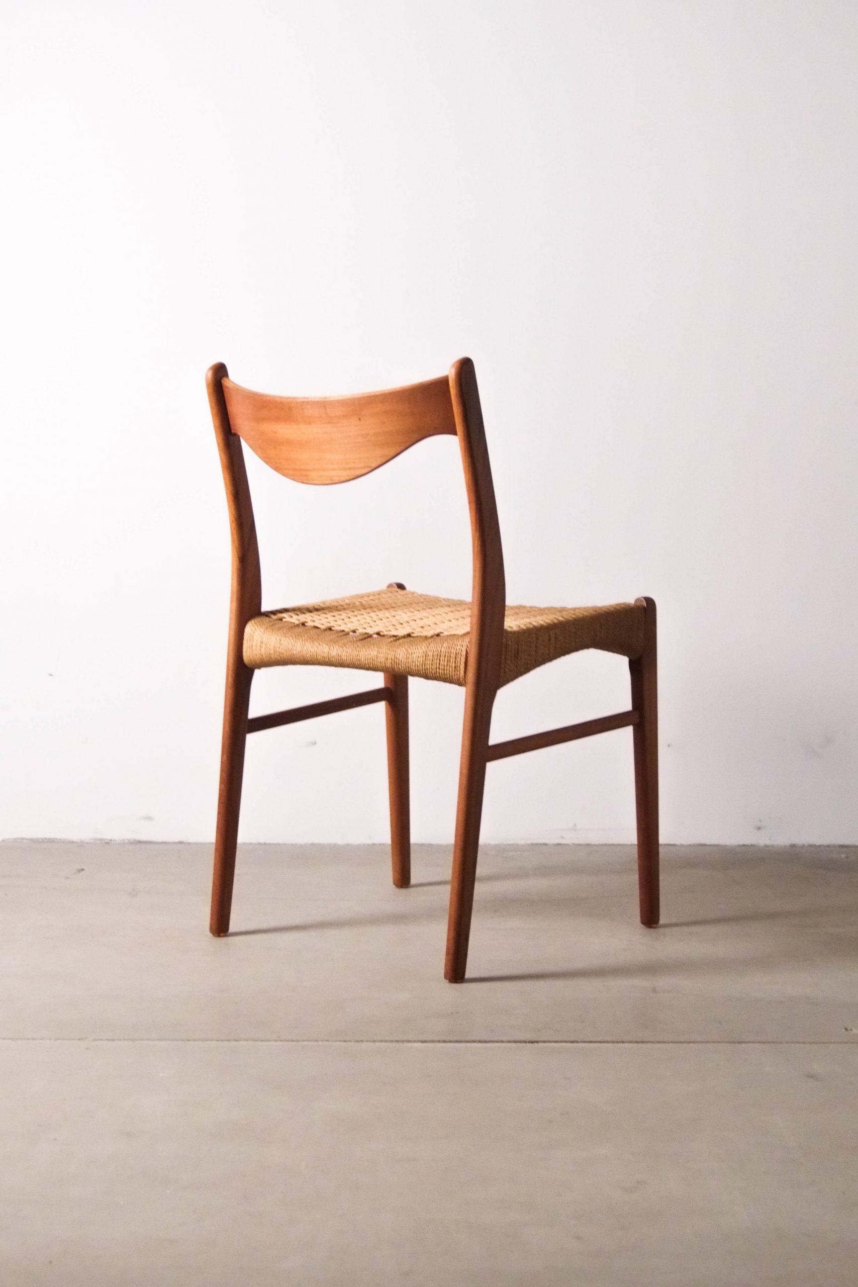 silla comoda de comedor de madera vintage nordica mid century