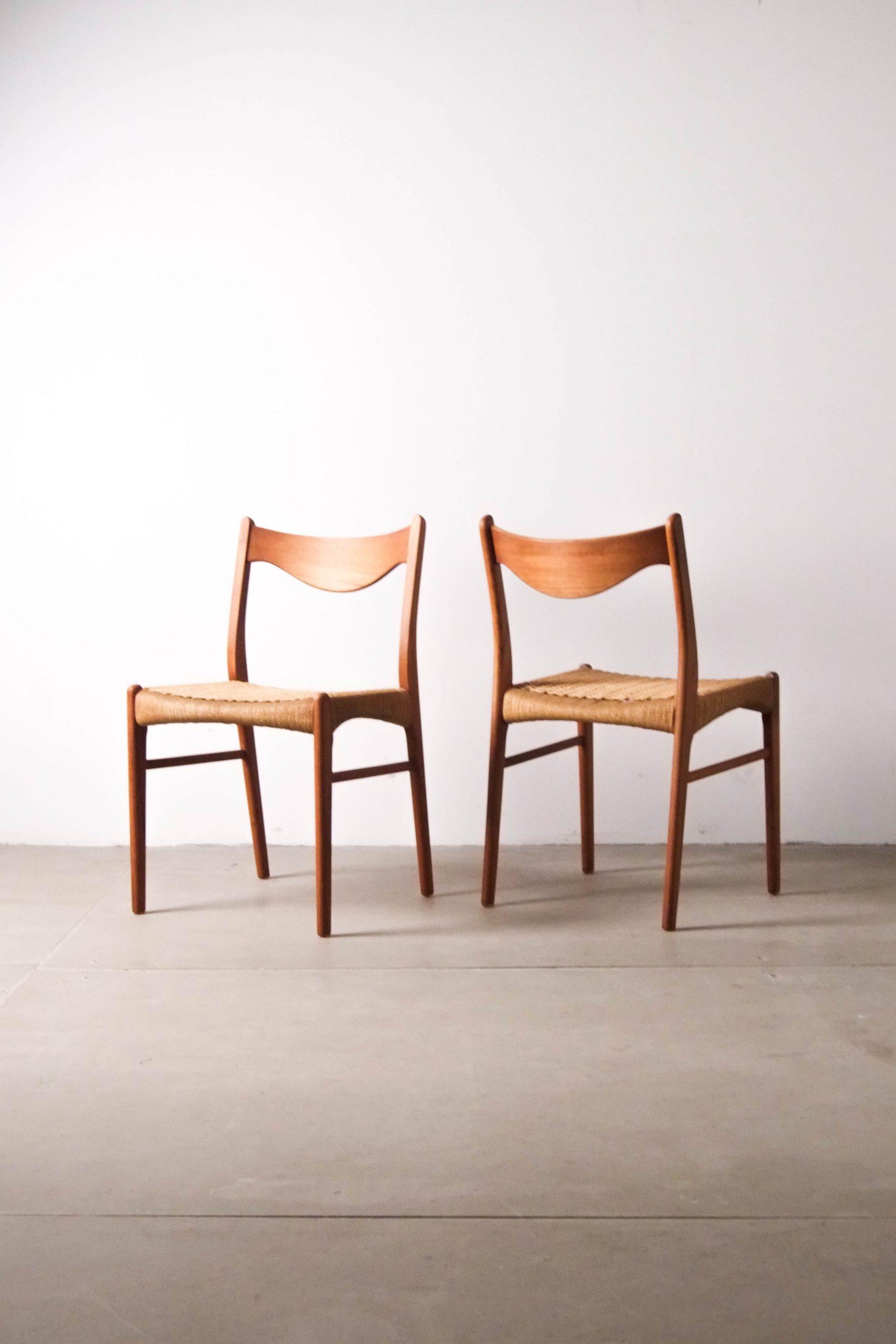 sillas de comedor nordicas vintage madera de teca papel trenzado