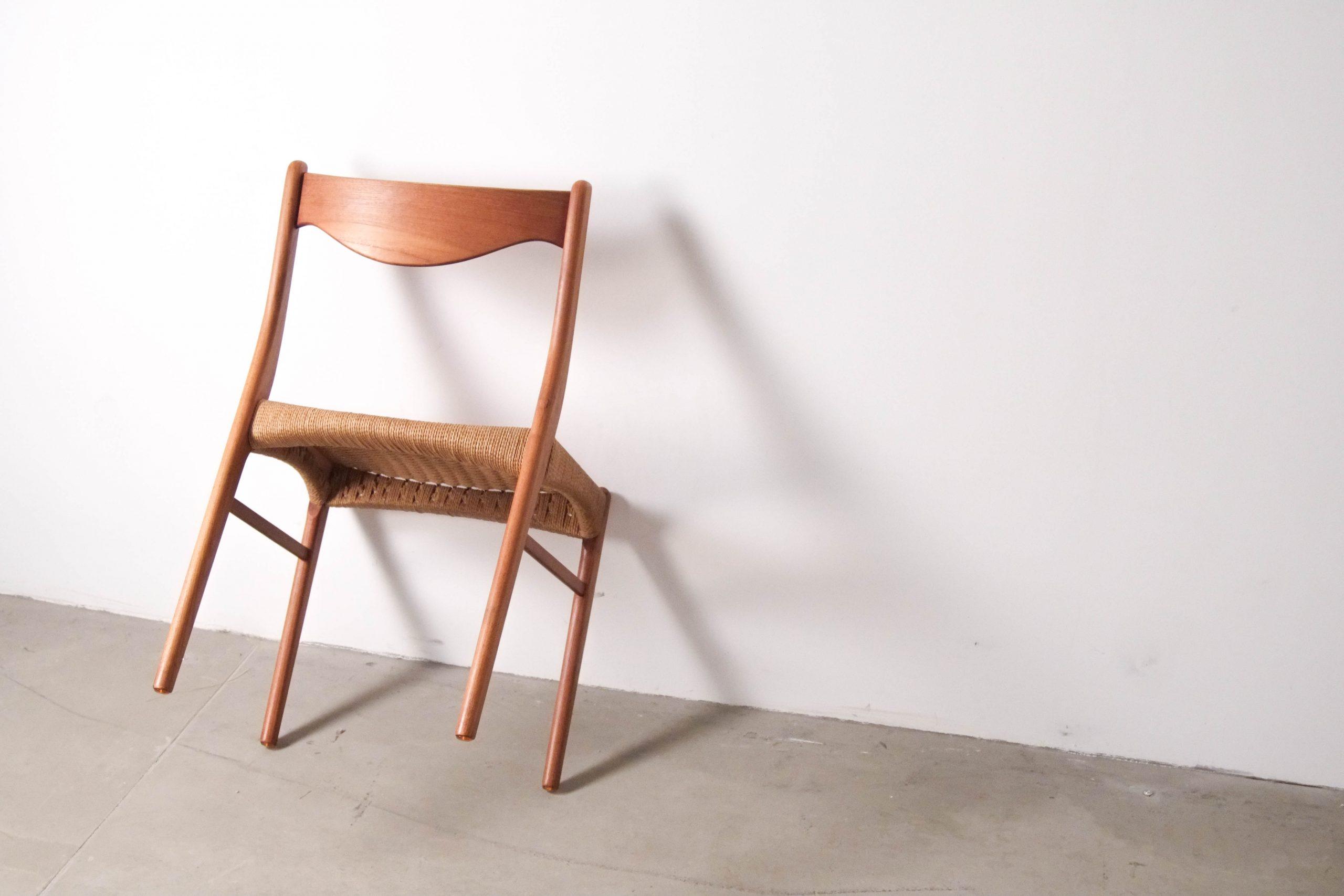 silla de comedor foto calidad madera de teca artesanía danesa dinamarca