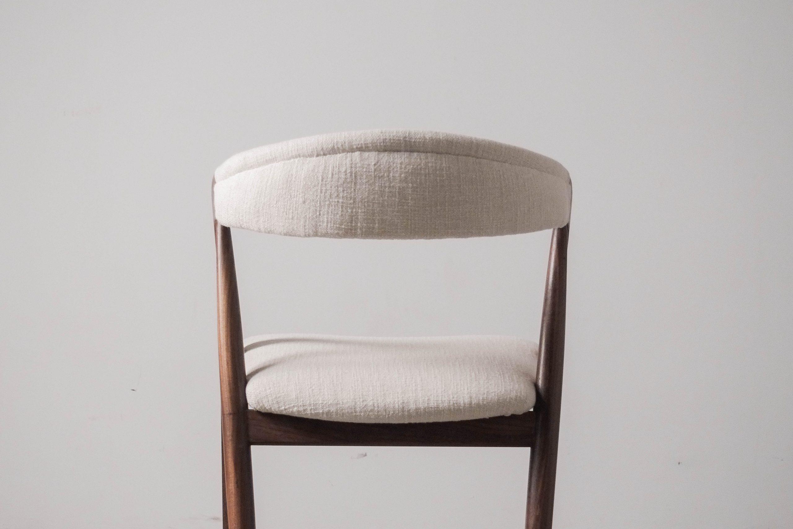 silla tapizada color blanco silla de diseño comoda de comedor de salon