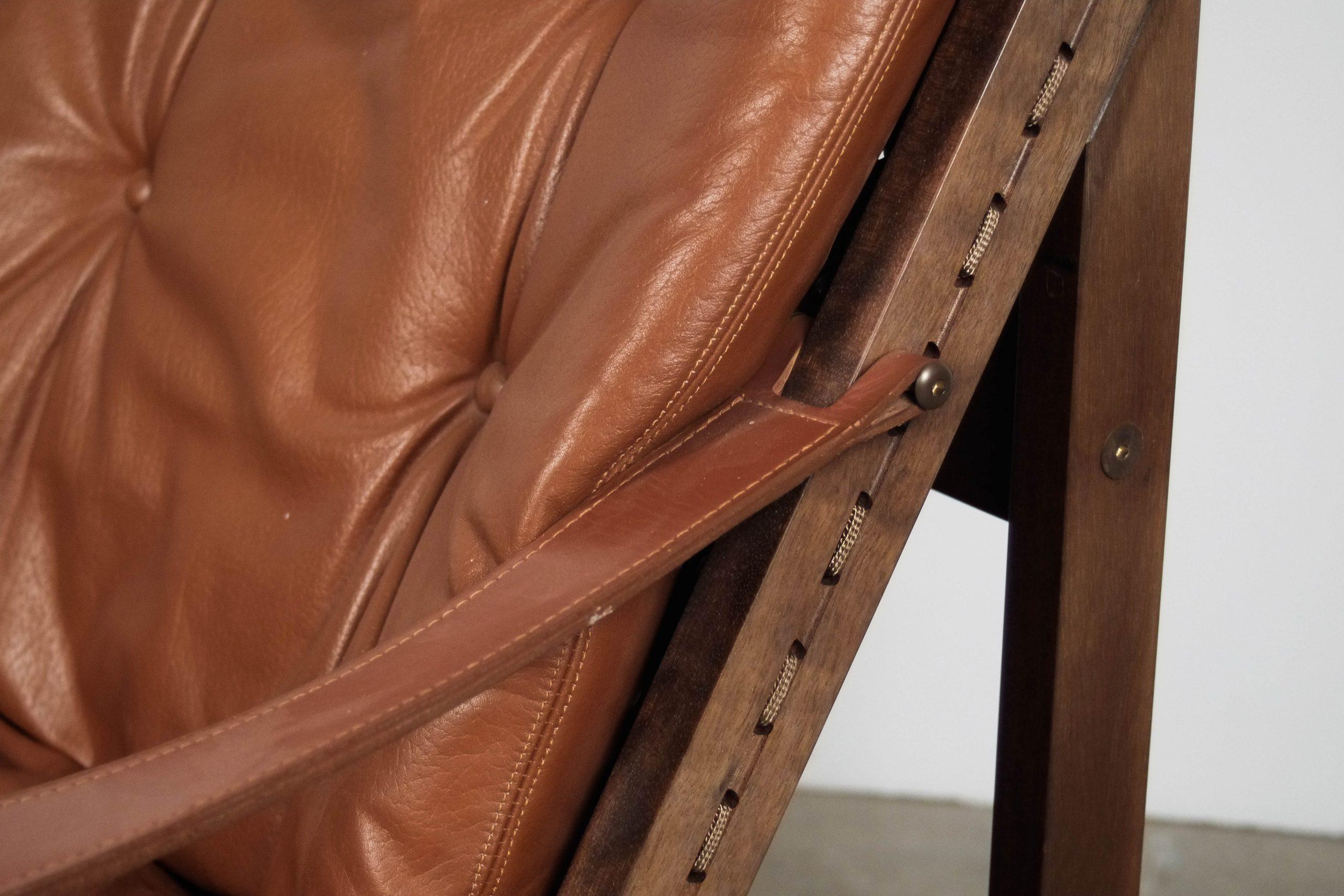 butaca de diseño de piel madera oscura butacas diseño