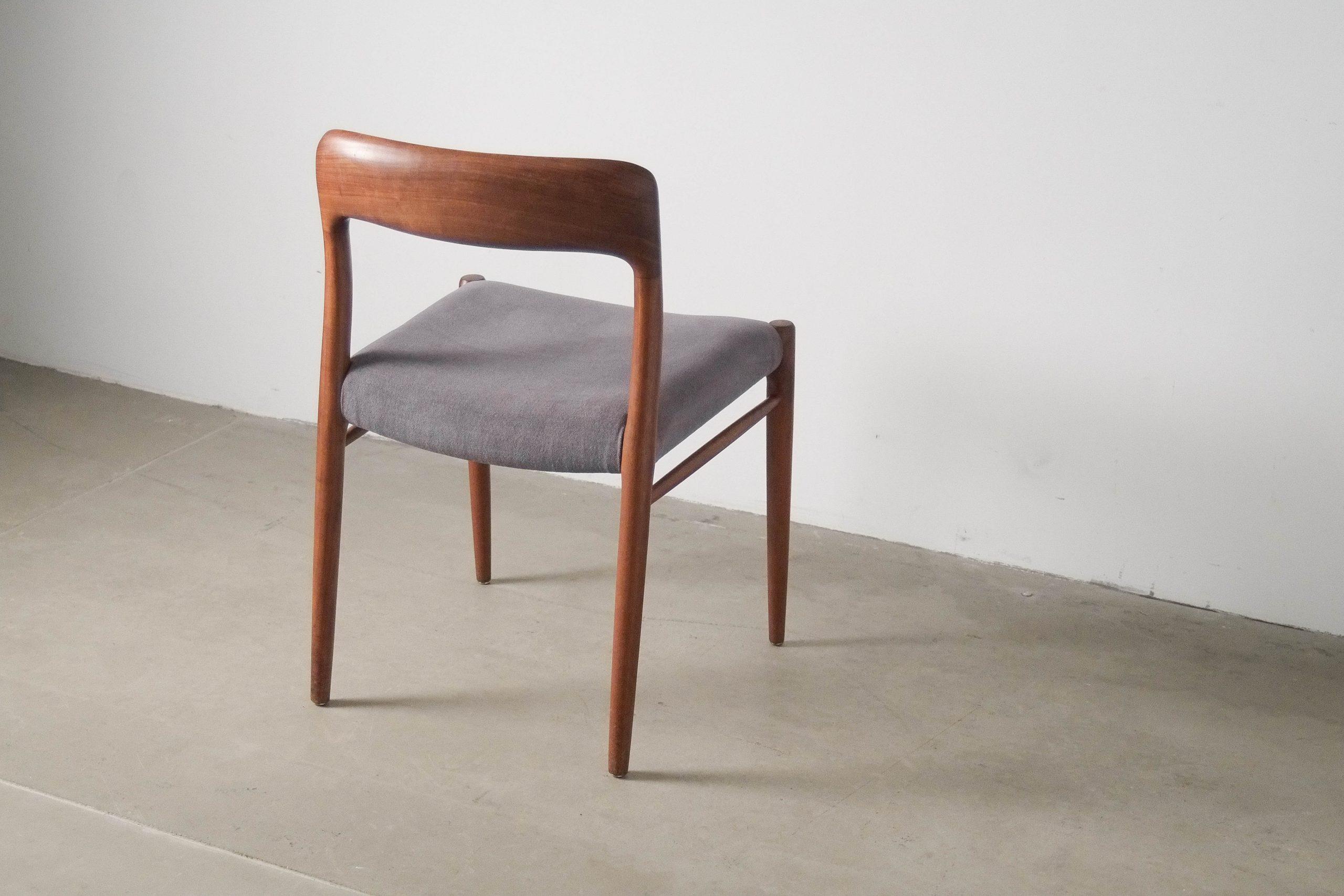 silla respaldo hecha a mano de comedor teca madera tapizada