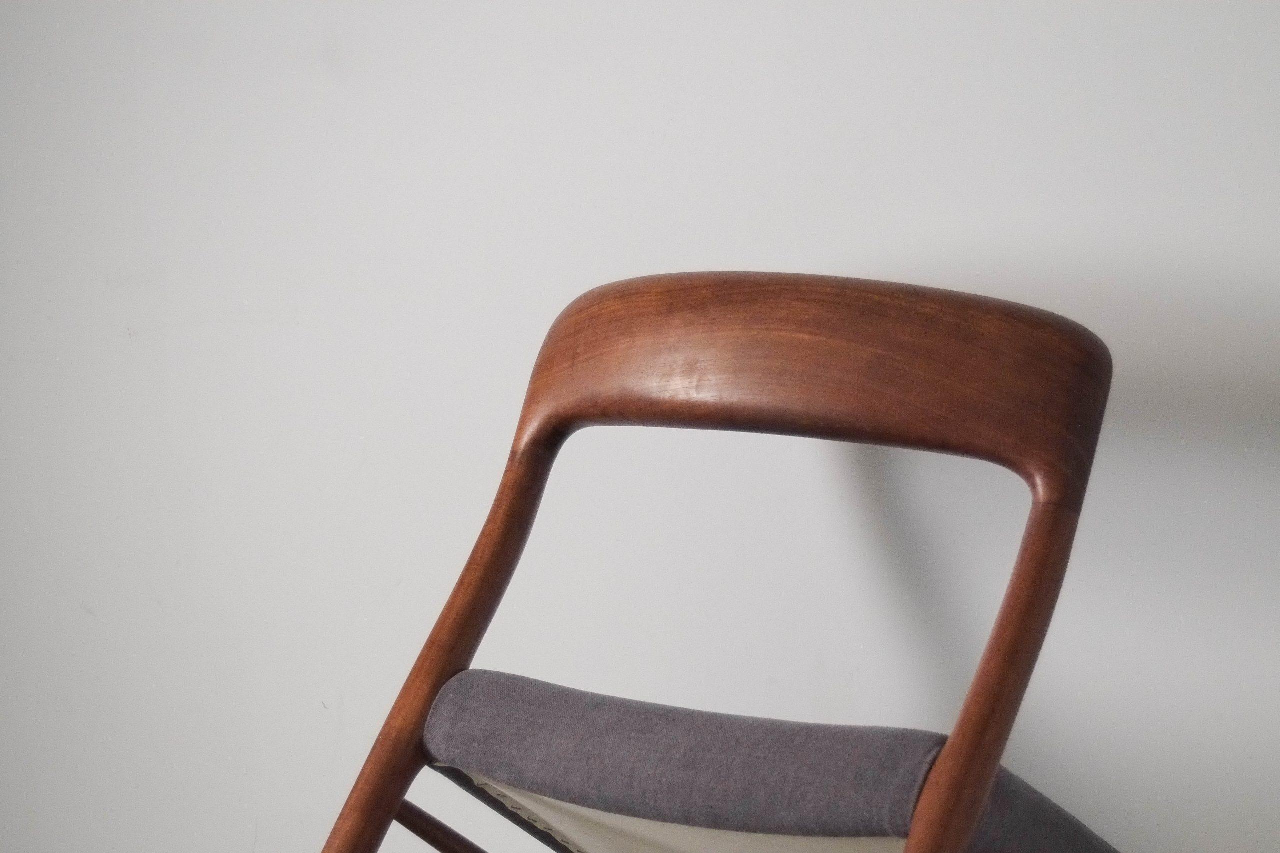 silla de diseño comoda de comedor teca mid century moller neils otto
