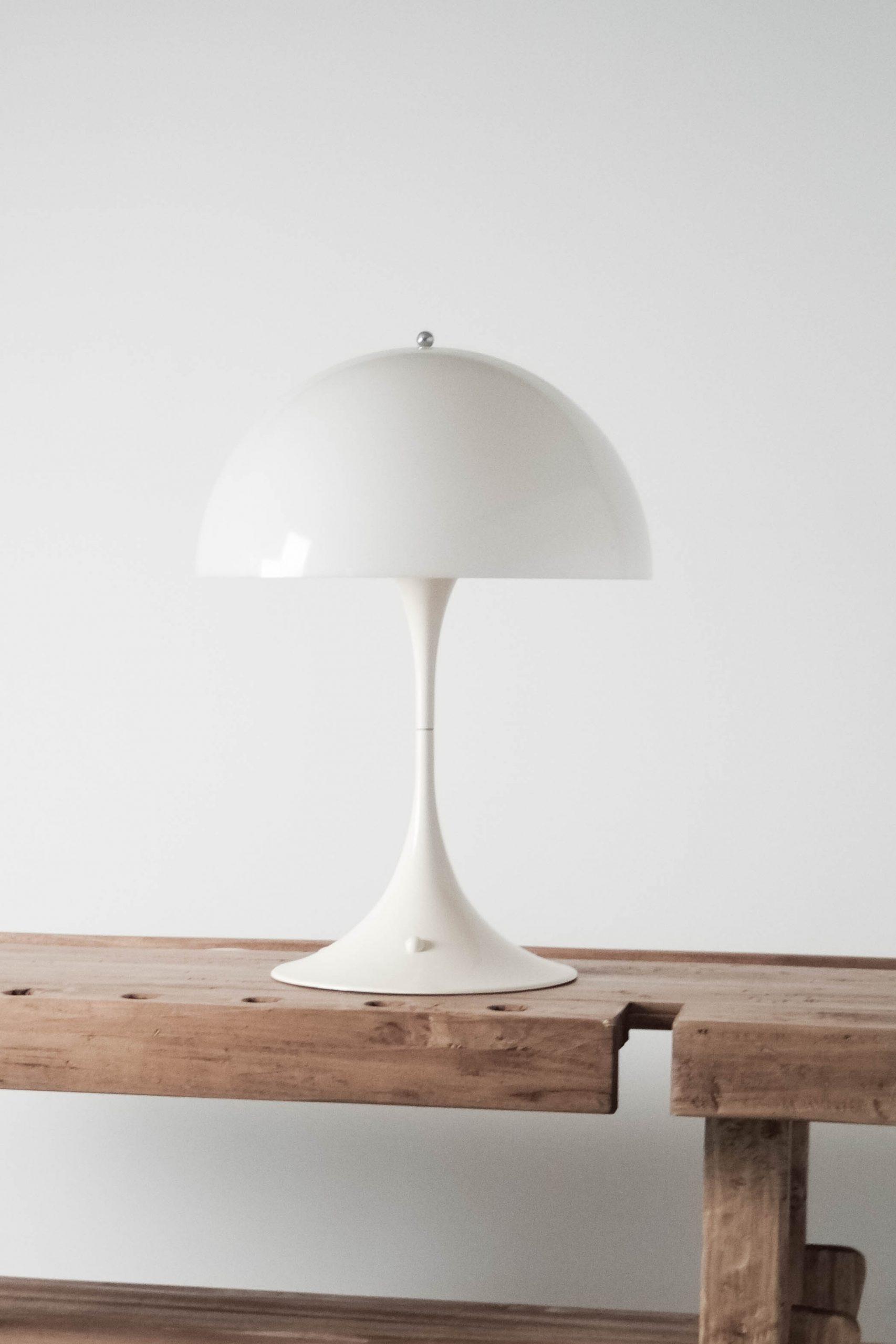 lampara panthella de diseño blanca seta