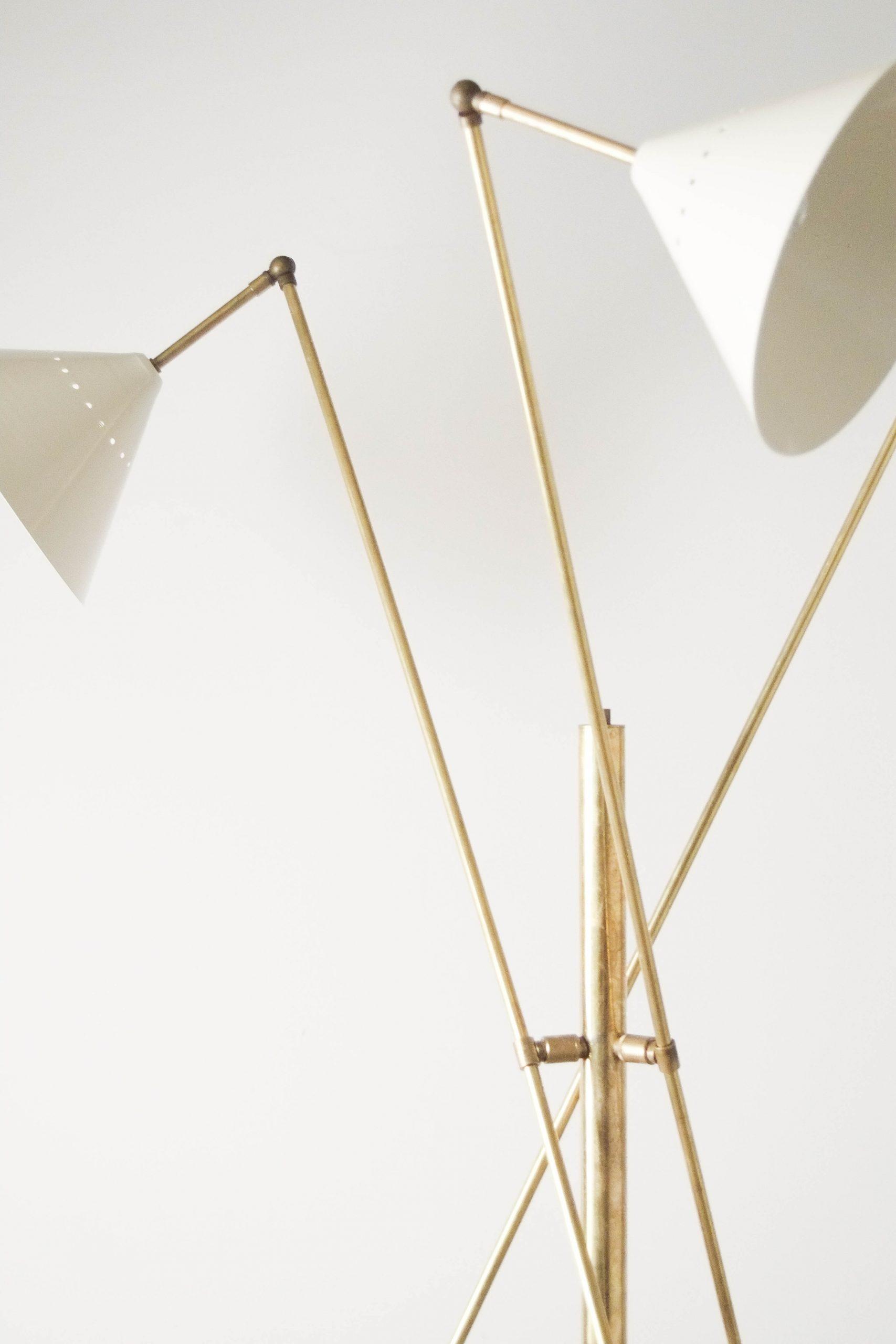 lampara stilnovo elegante fabricada a mano en italia laton