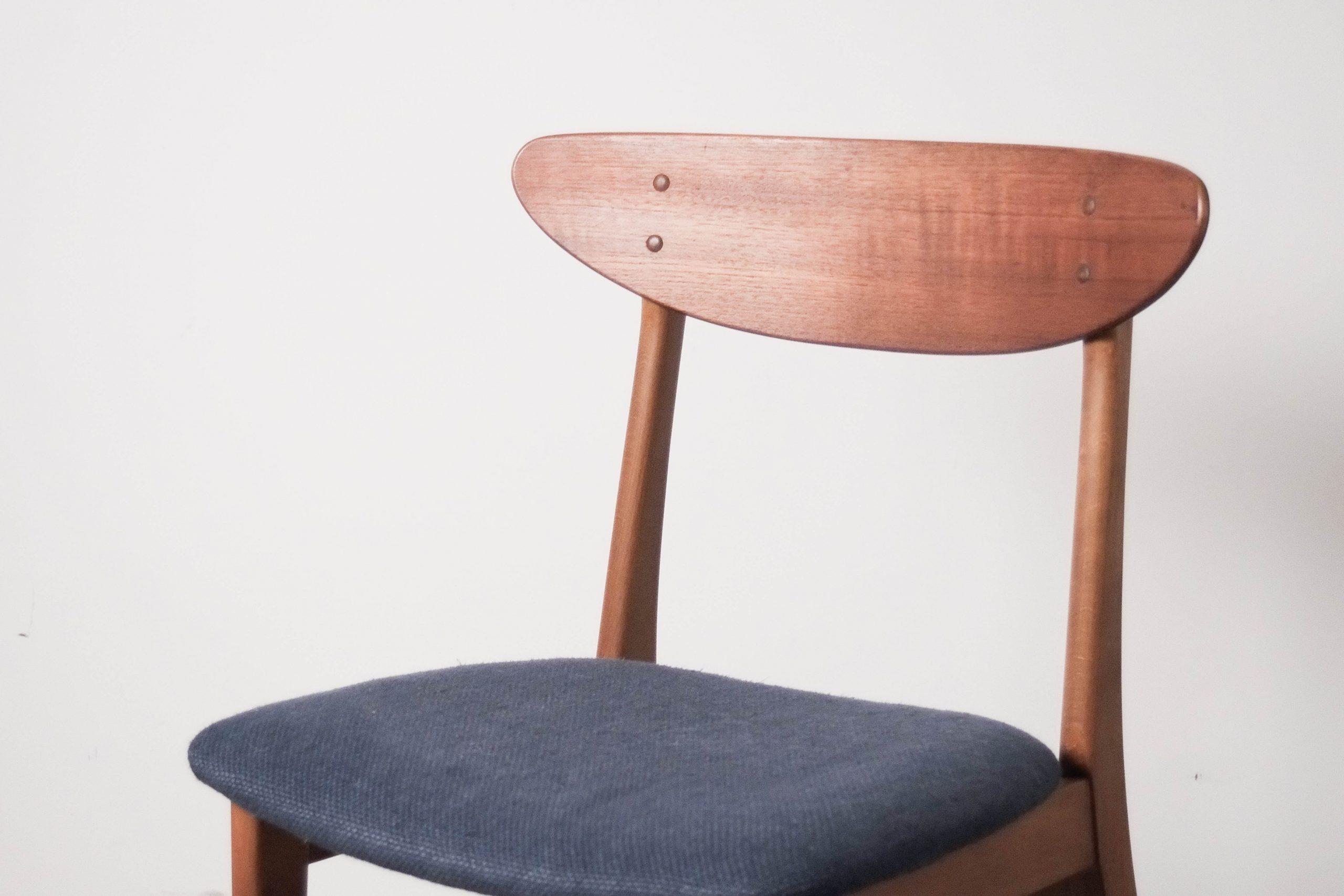 silla de teca farstrup diseño escritorio comedor salon
