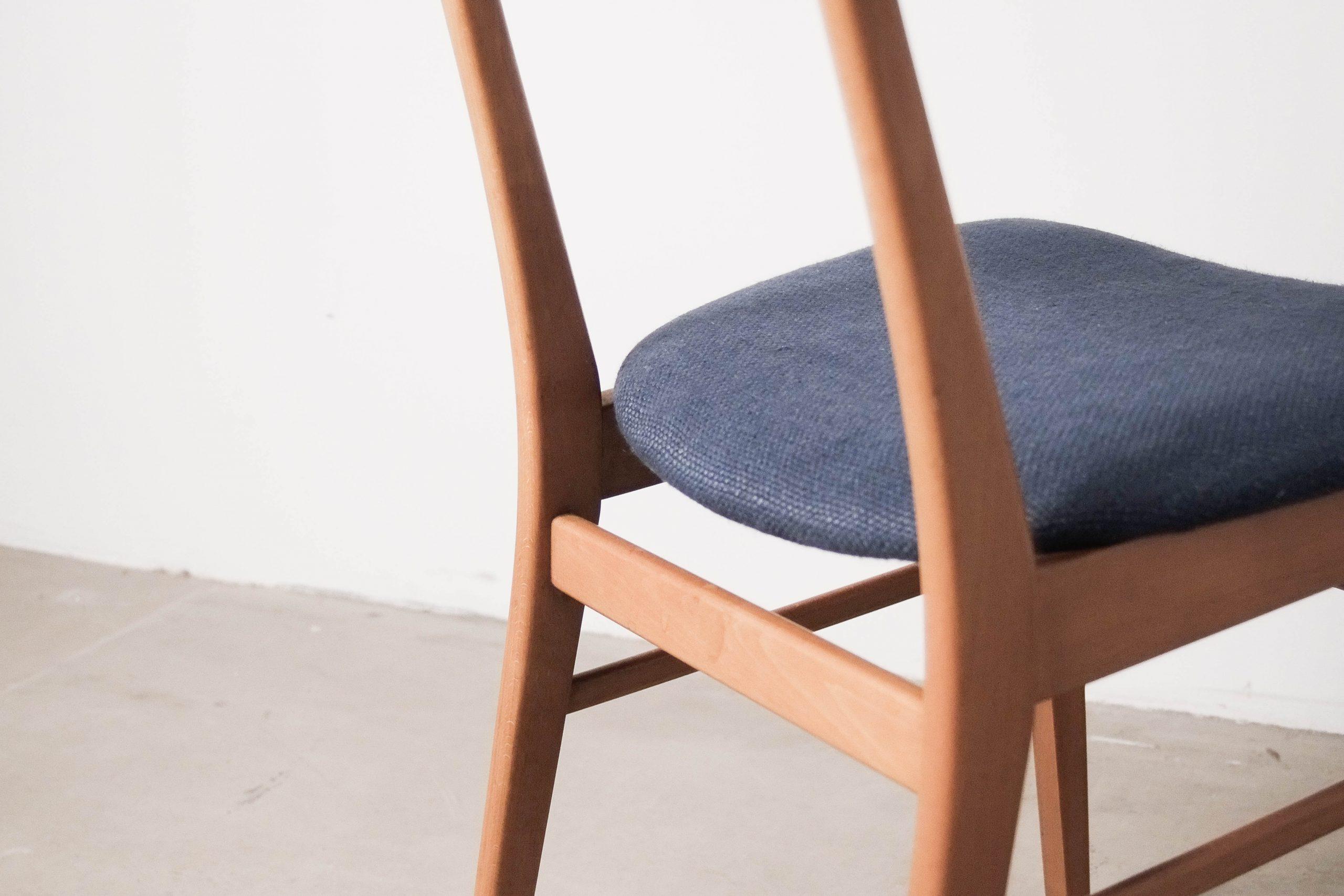 silla teca diseño diseñador mid century calidad tapizada color