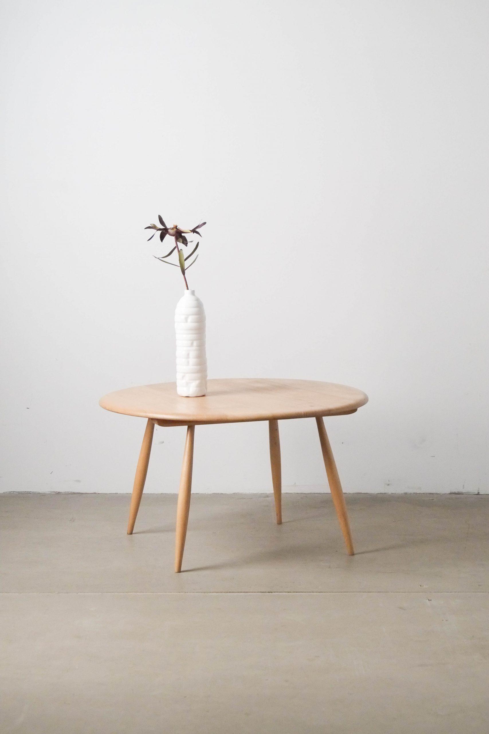 mesa ercol vintage de madera de haya y olmo hecha a mano