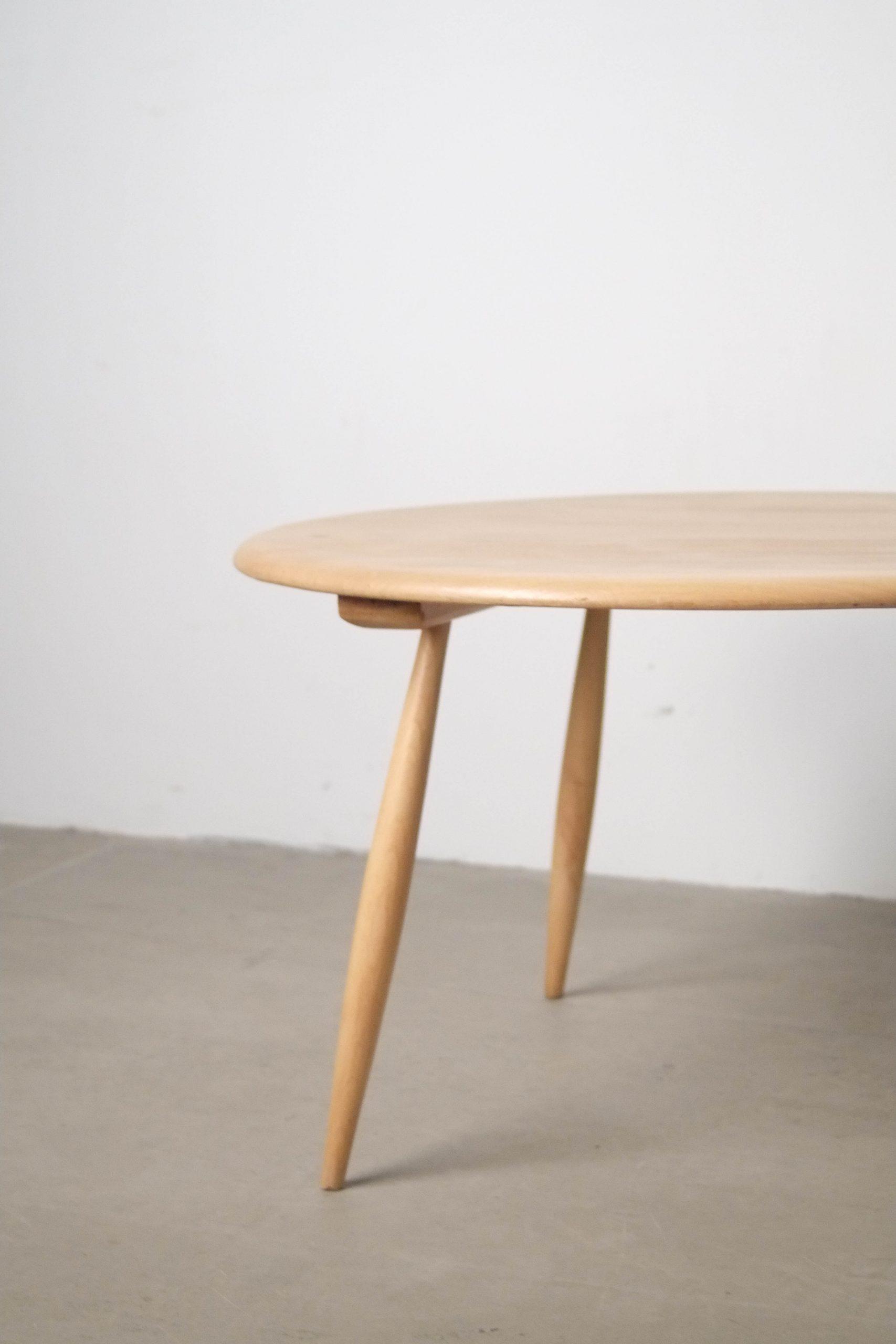 mesa baja de centro de cafe fabricada a mano de madera de olmo y haya fabricada a mano olmo