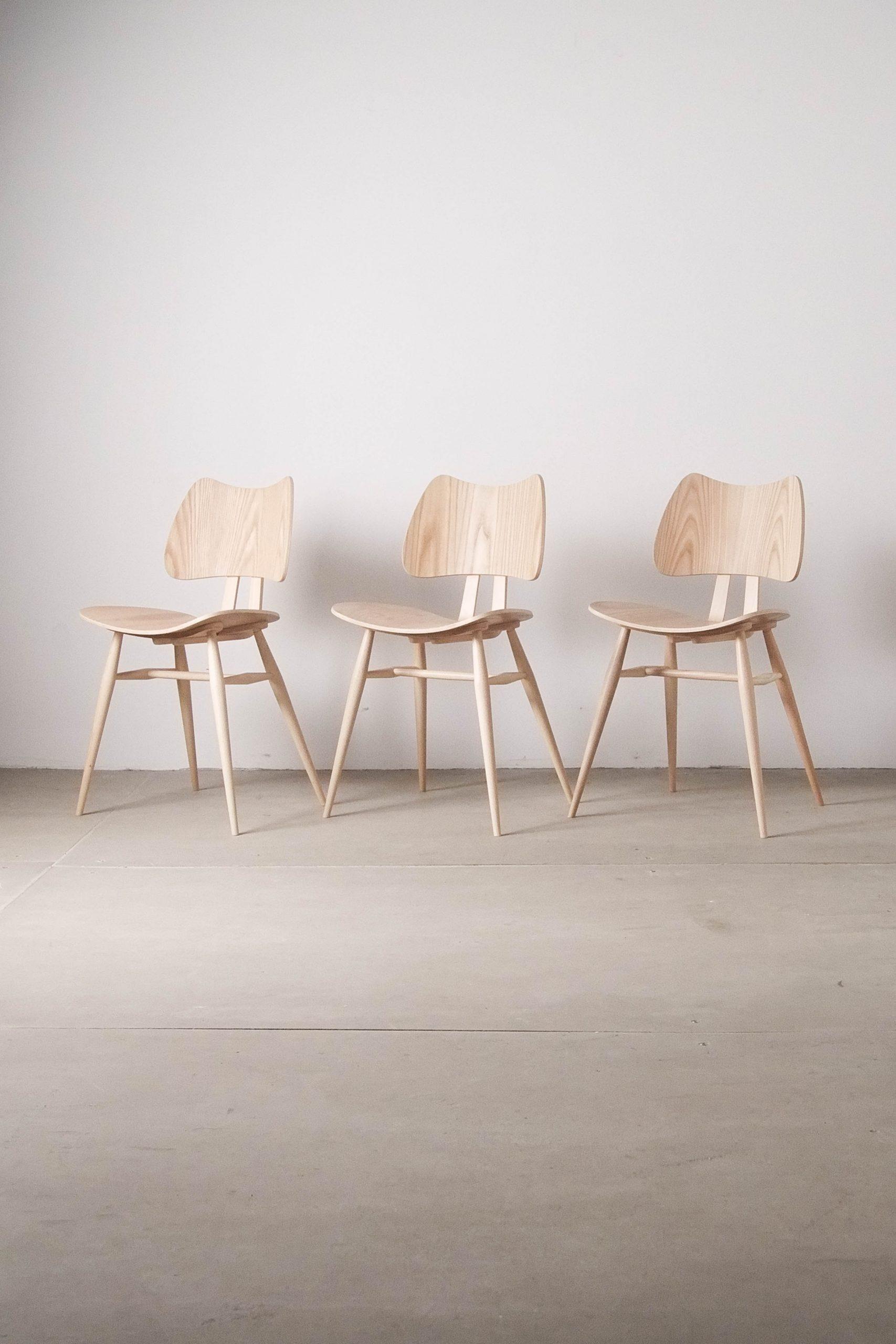 silla ercol butterfly de fresno y madera de haya