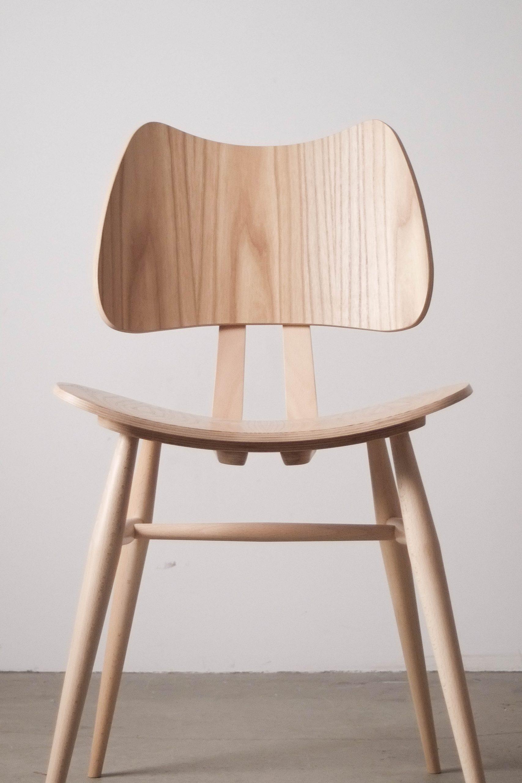 silla de comedor comoda de diseño de cocina natural mader