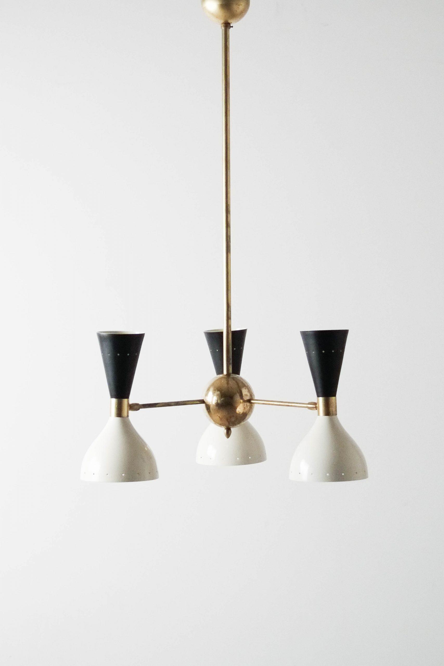 lampara de techo clasica italiana de laton