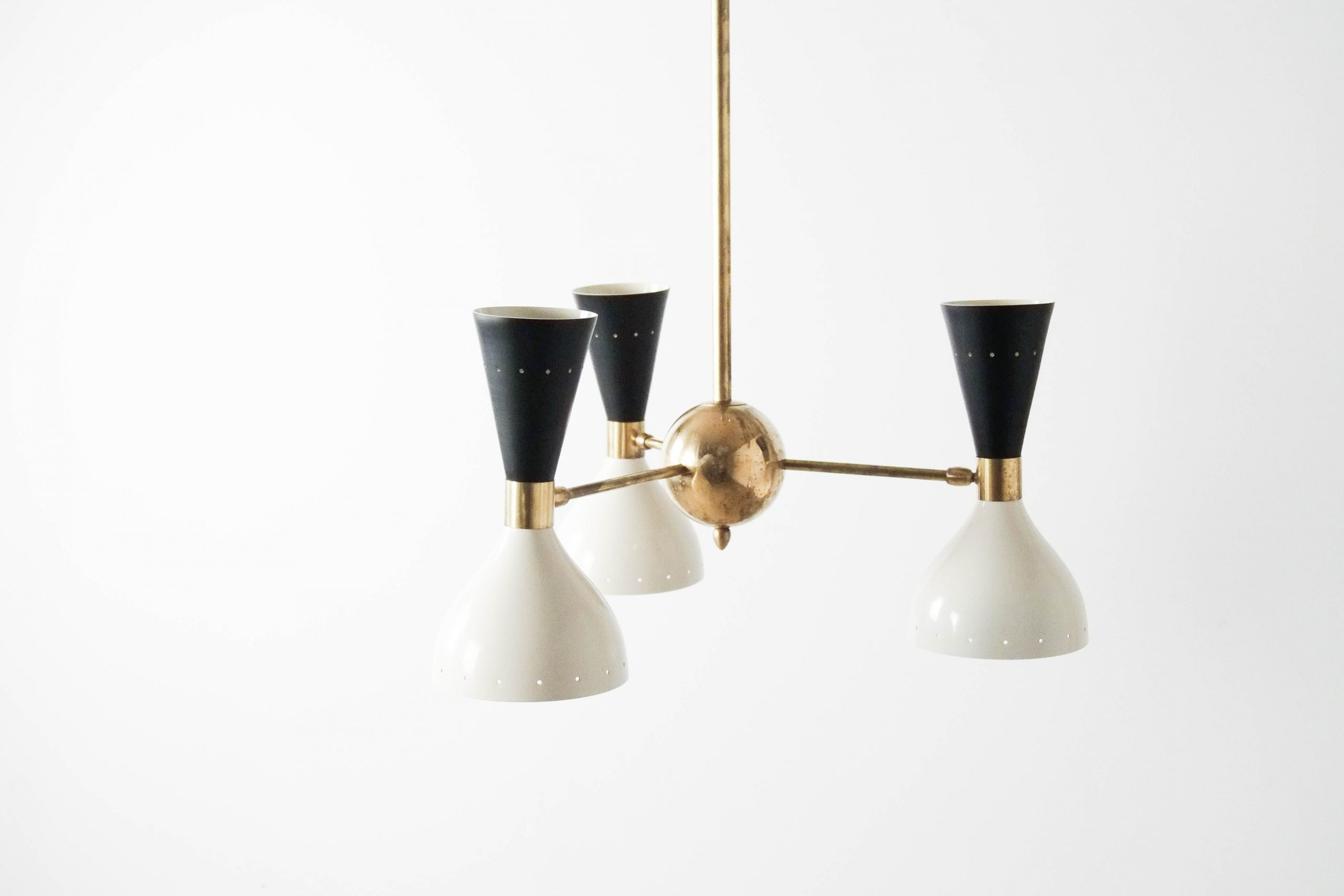 lampara de pie de laton fabricada a mano metal diseño elegante techo iluminacion