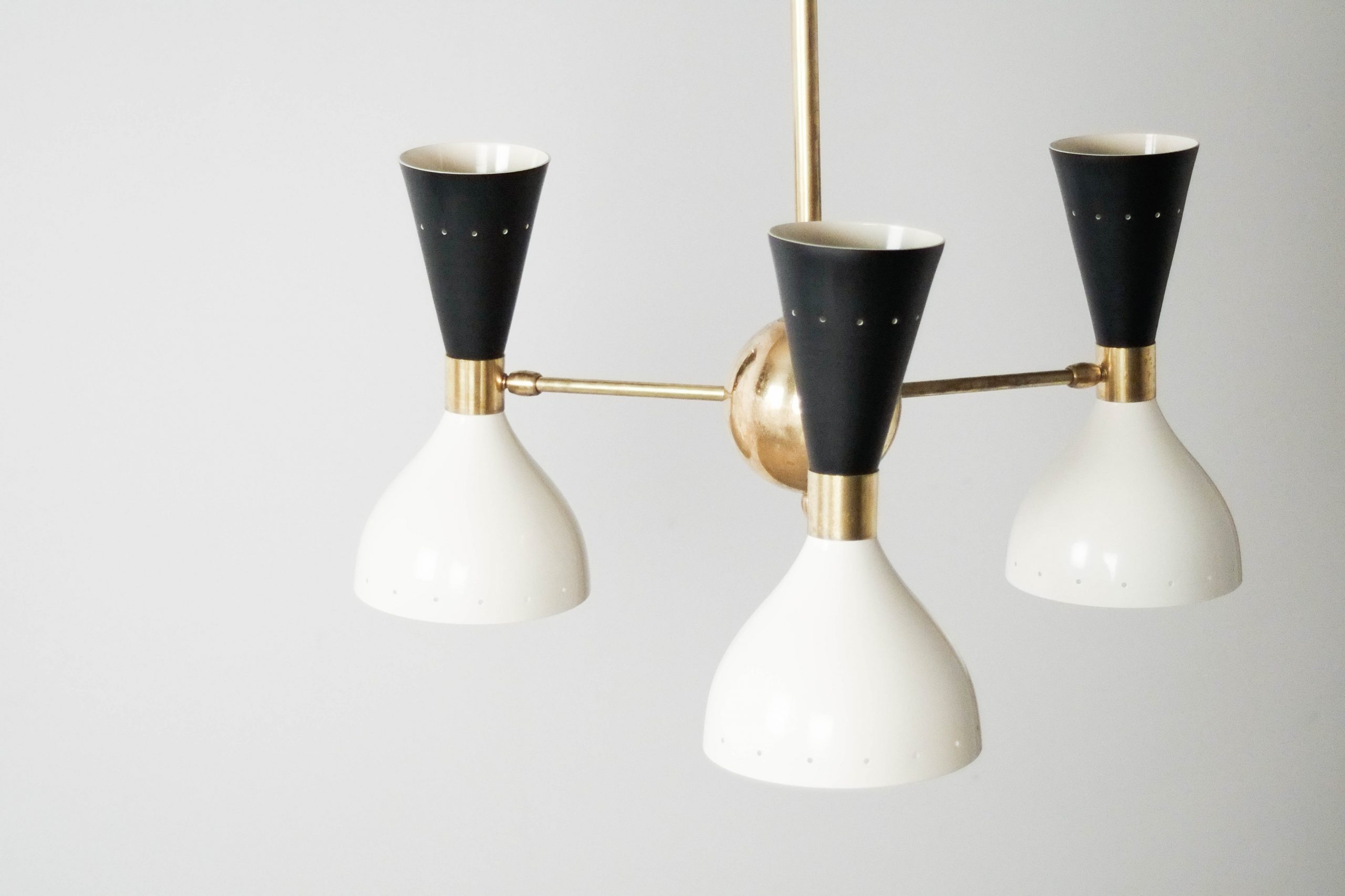 lampara italiana de diseño fabricada a mano laton y lacado