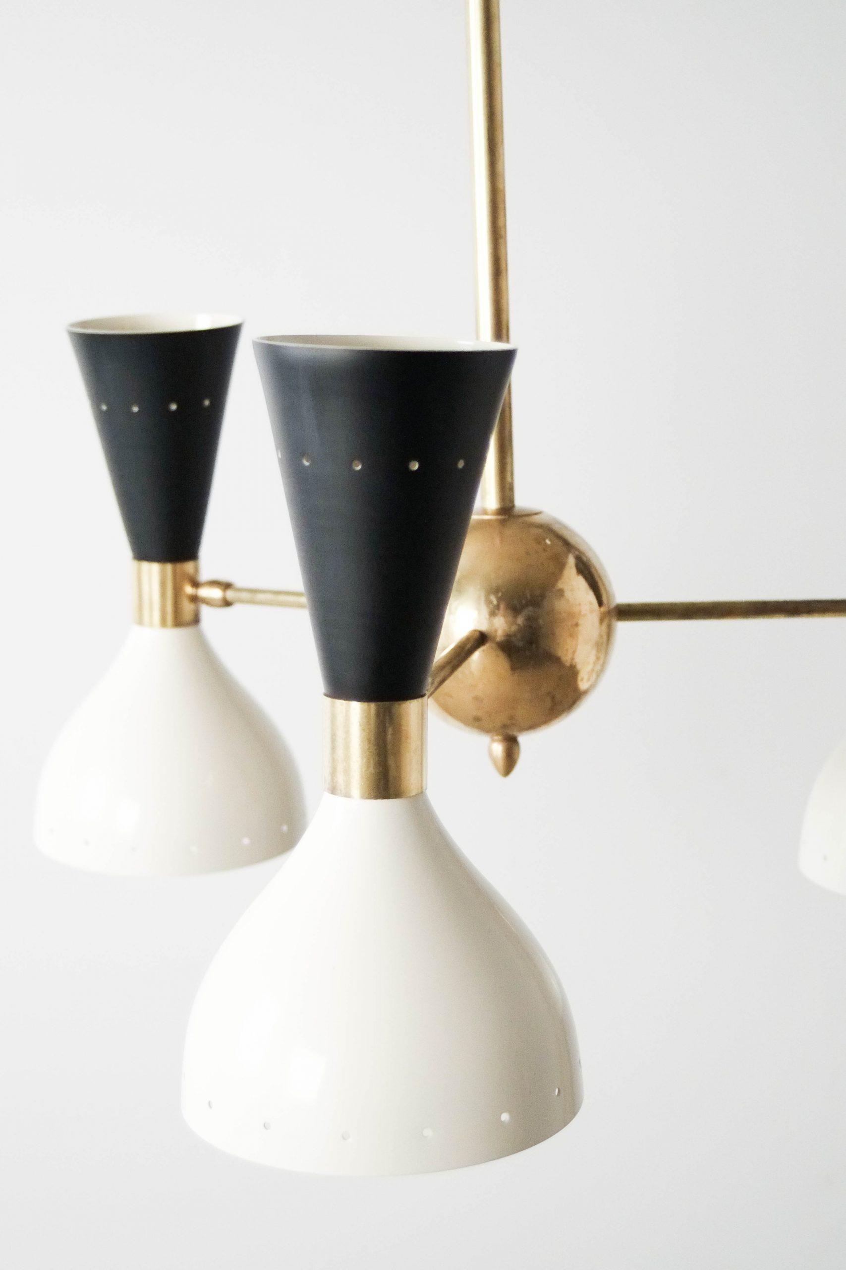 lampara de techo de laton de diseño retro vintage italiana