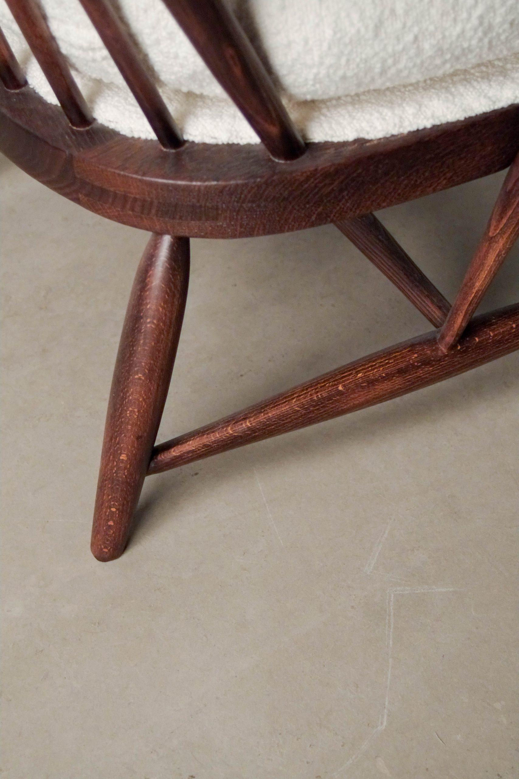 detalle de madera de pata madera de olmo haya diseño ebanista