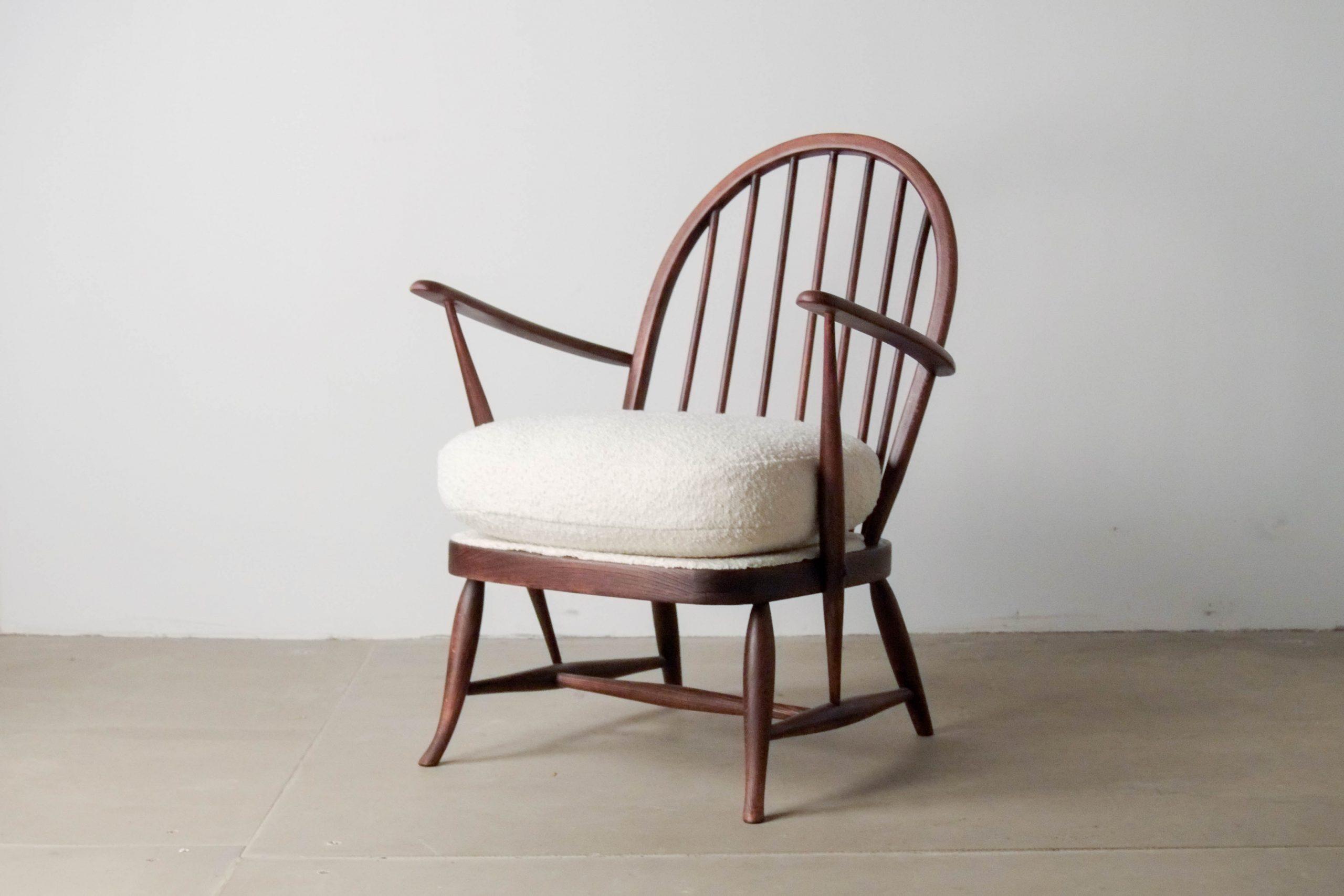 butaca de diseño madera ebanista vintage retro ercol