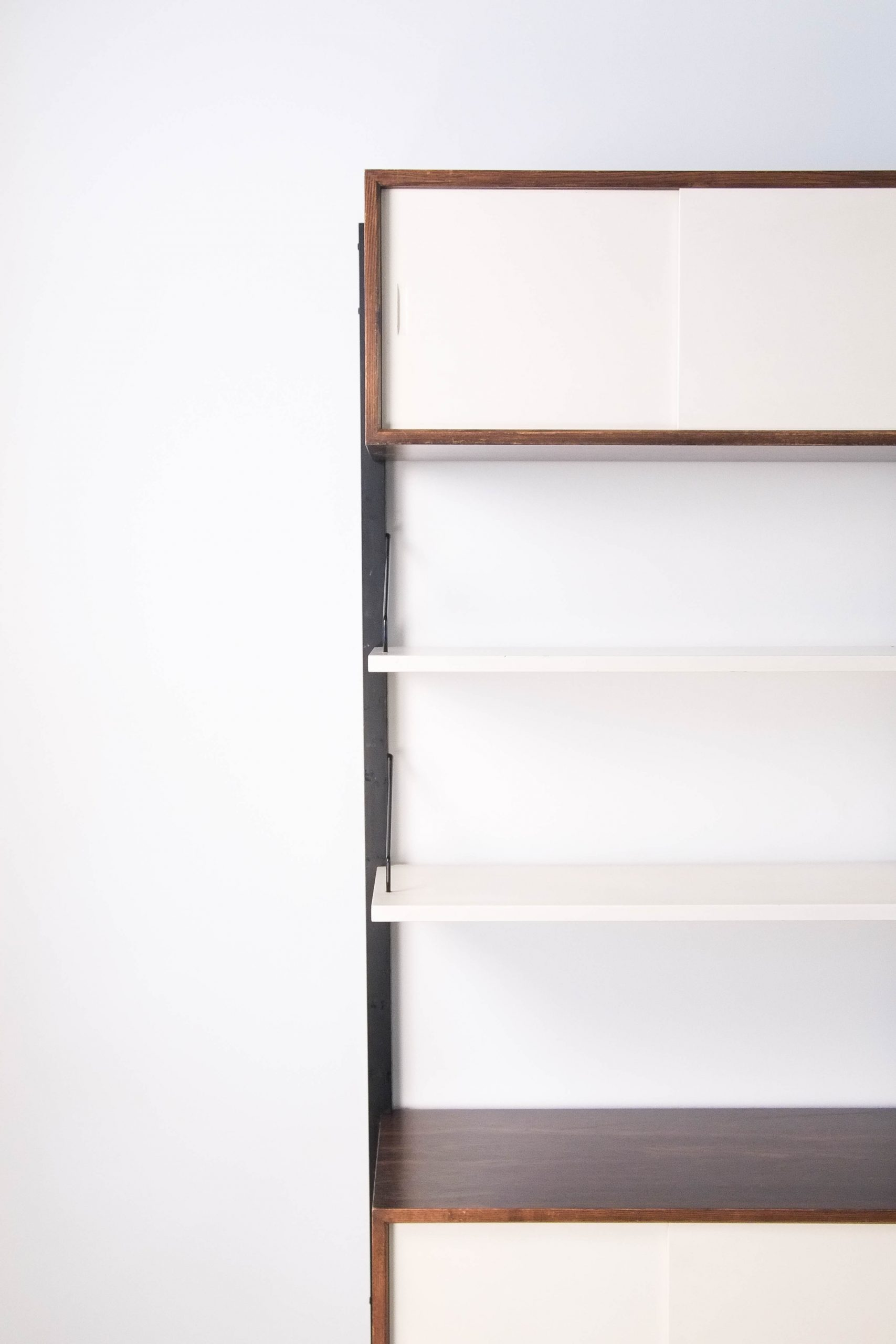 estanteria modular baldas salon teca
