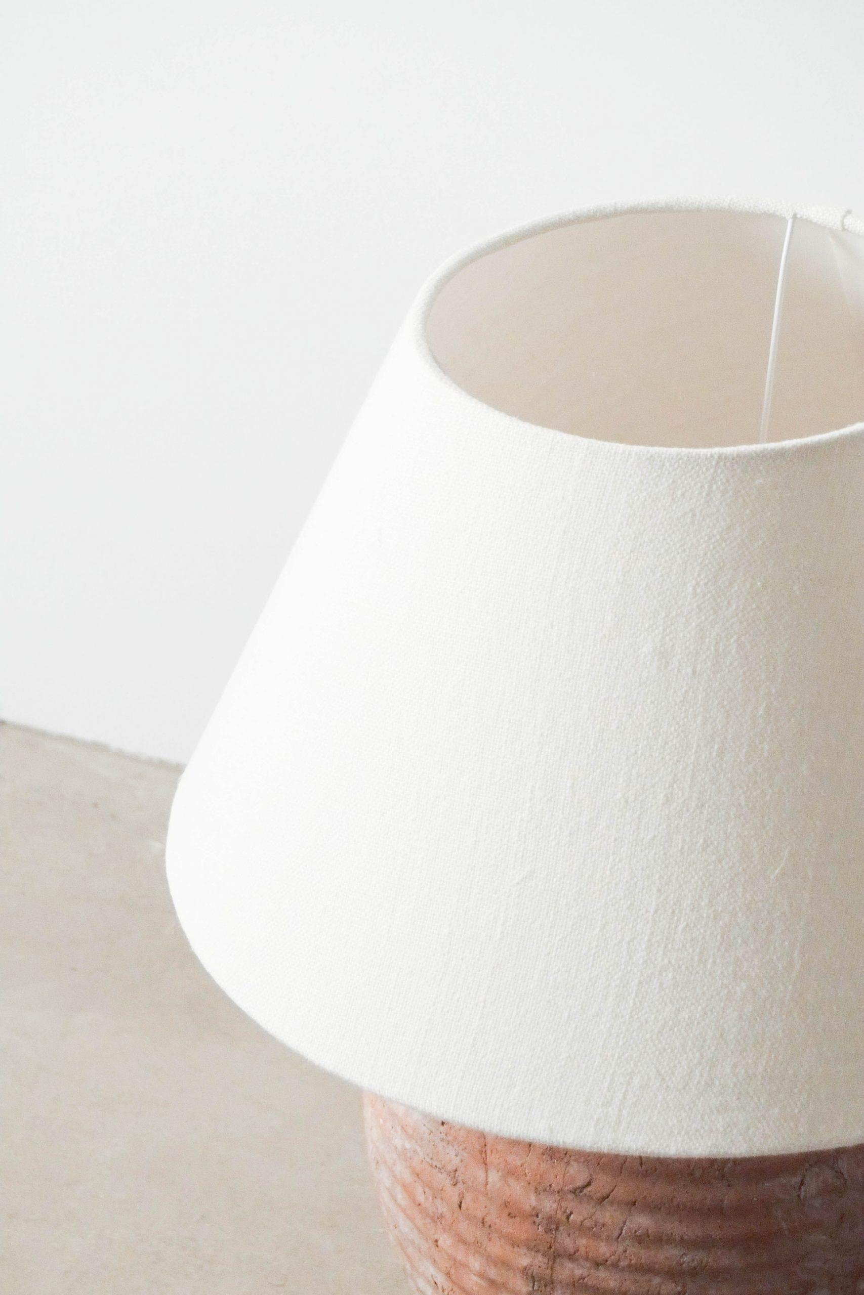 pantalla de lino natural de diseño