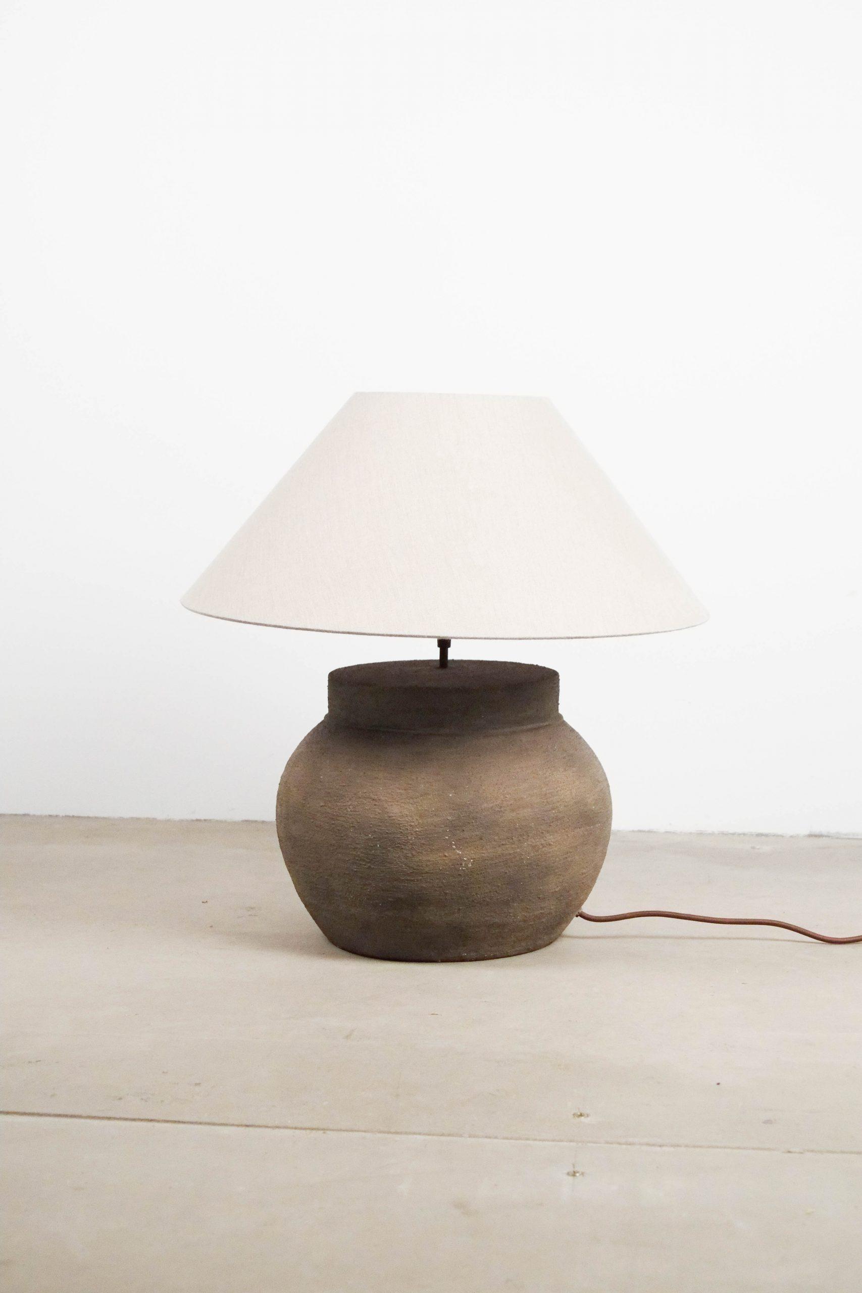 lampara ceramica de sala de salon vintage retro fabricada a mano