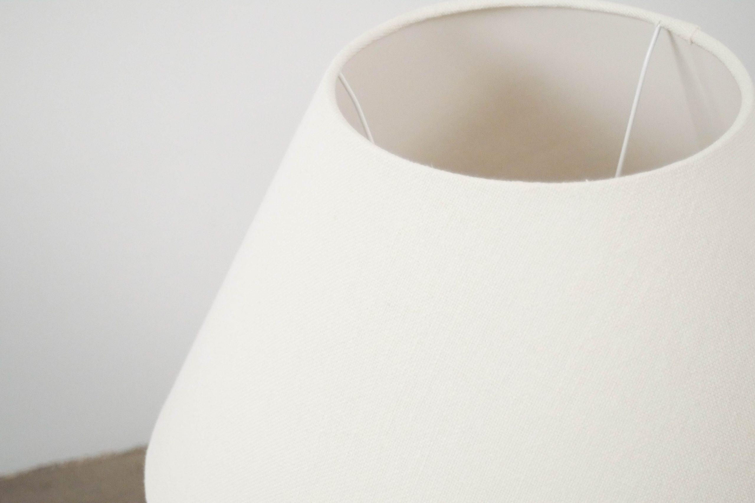panatalla de lino de lampara hecha a mano de calidad salon