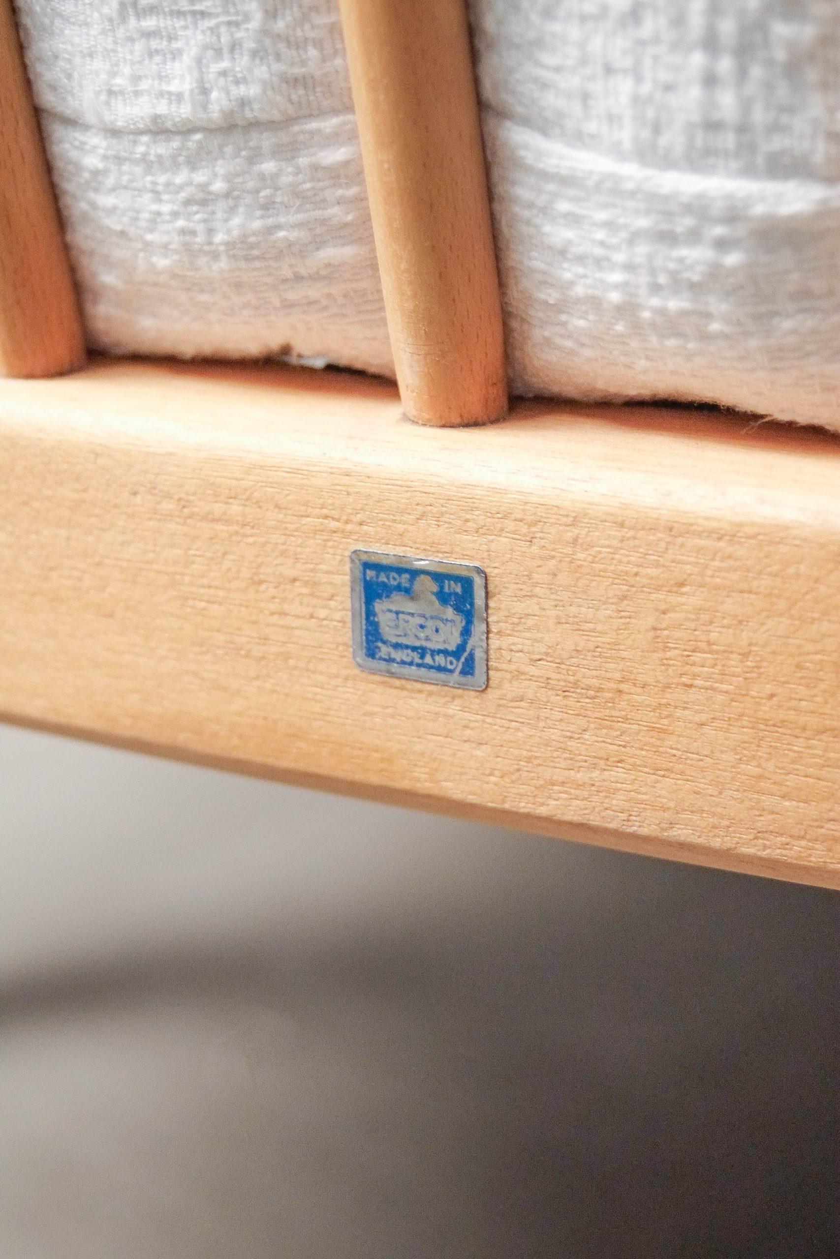 sofa de diseño de madera maciza de calidad