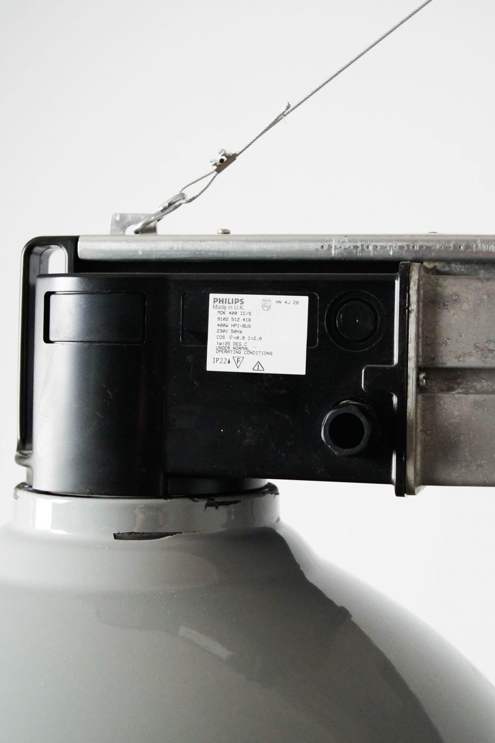 lampara de techo industrial doble campana