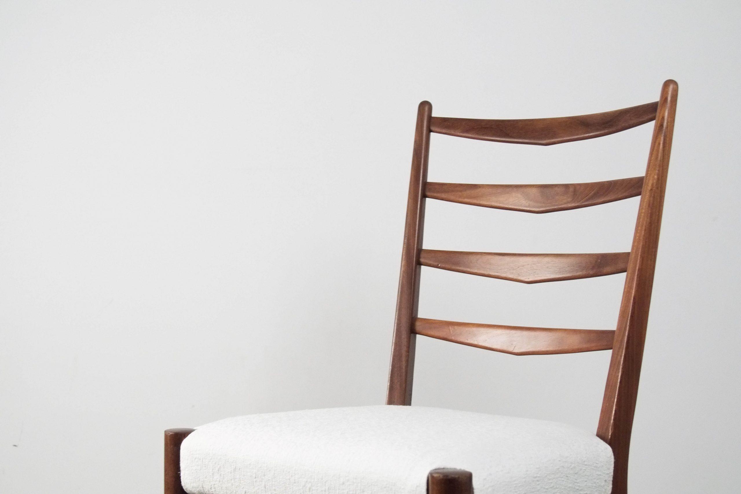 silla de comedor comoda tapizada cees braakman de madera de palosanto tropical