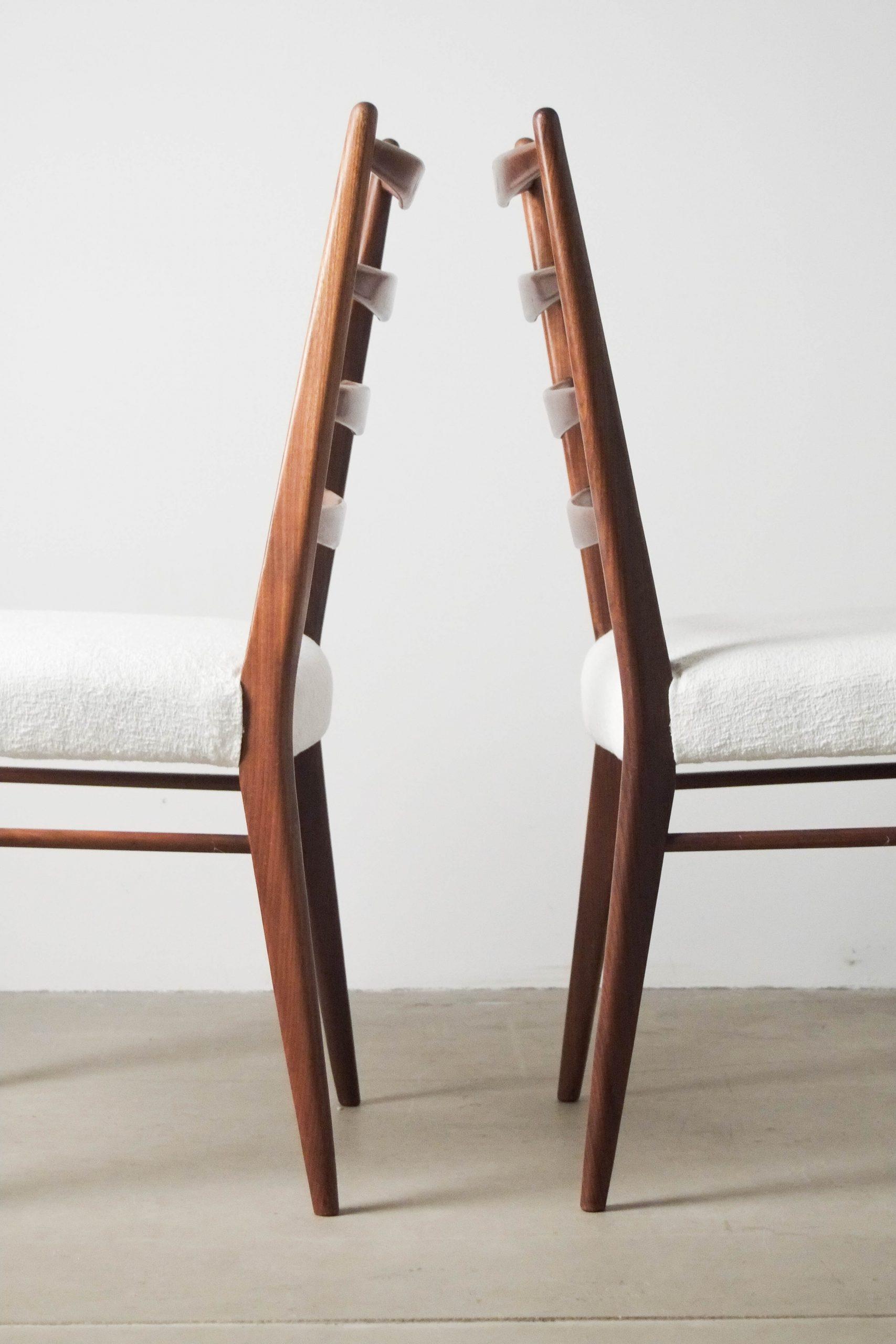 silla cees braakman de madera maciza de palosanto de diseño comedor cocina tapizada tela