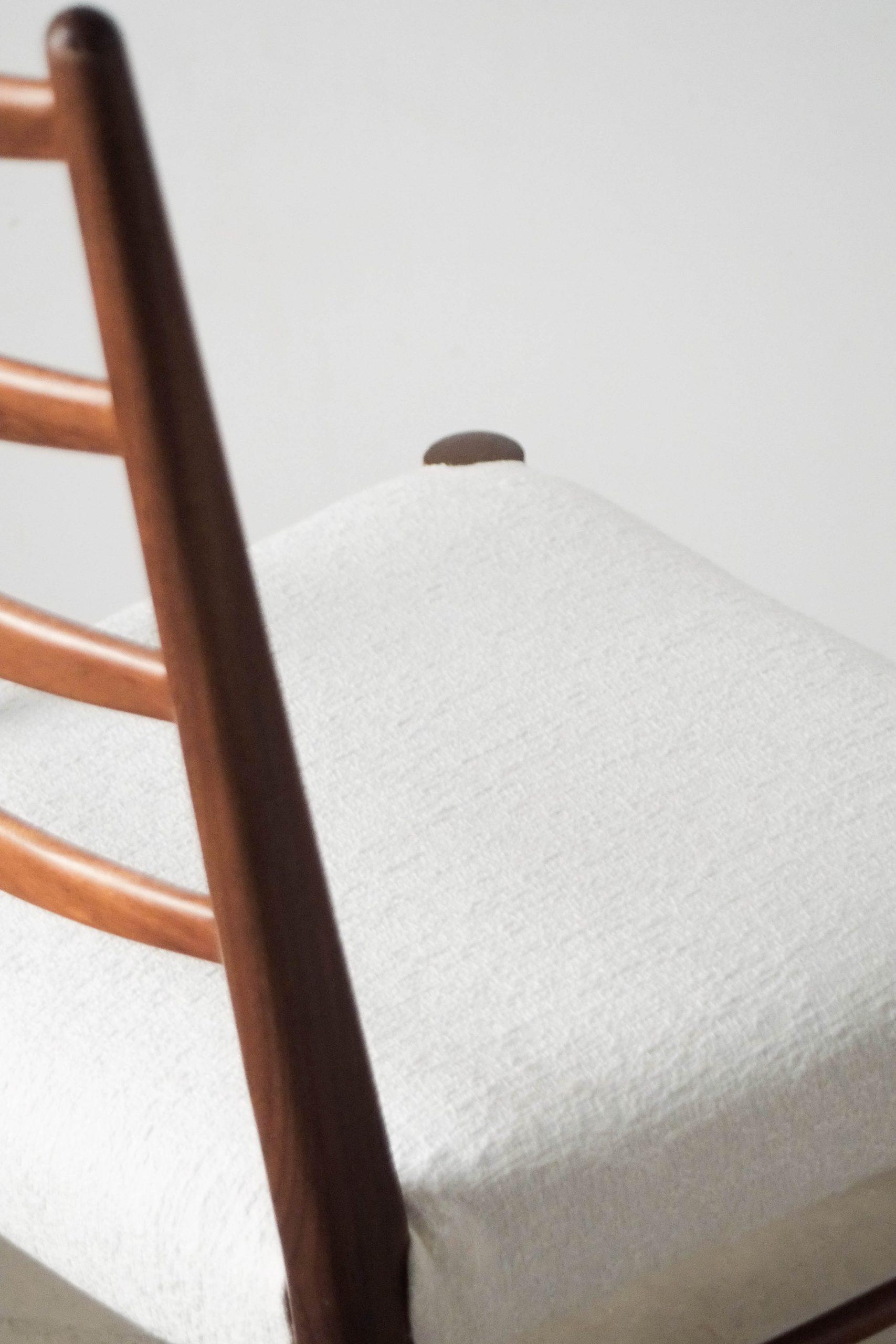 silla tapizada de madera mid century de diseño cees braakman