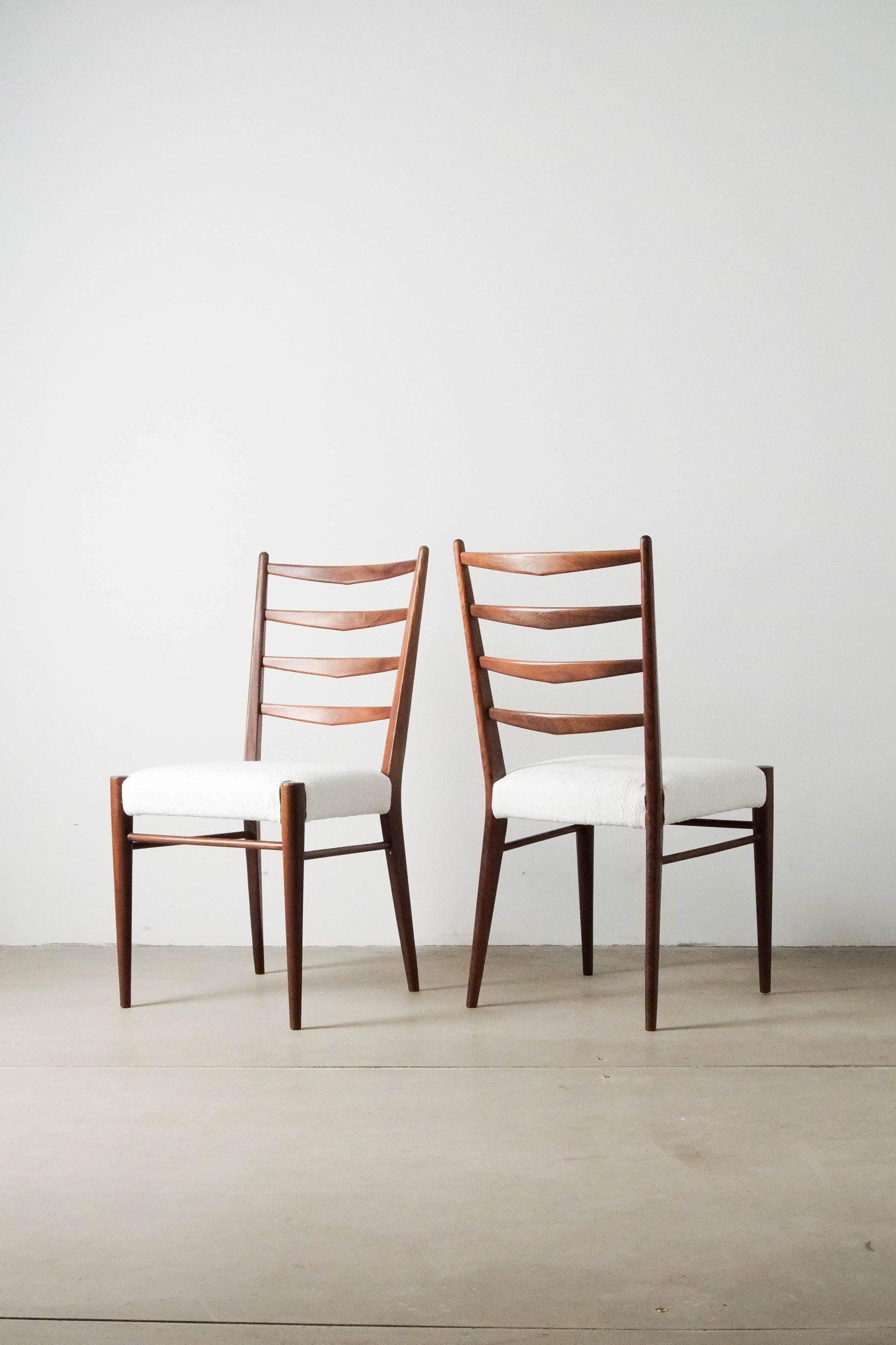 sillas de diseño de comedor madera maciza mid century