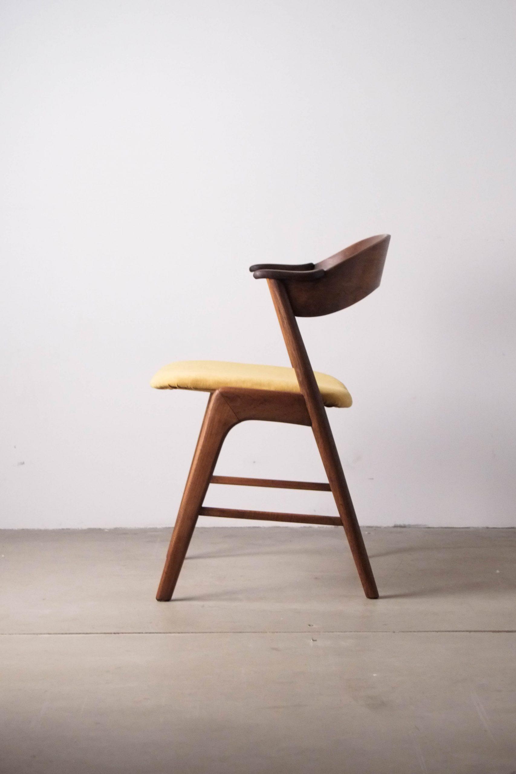 diseño silla de diseño estructura madera maciza natural fabricada dinamarca mid century