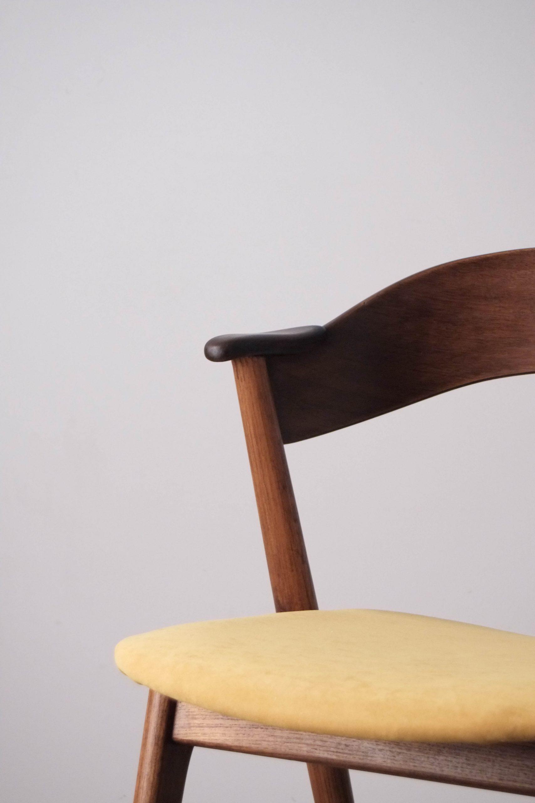 detalle reposabrazos silla kai kristiansen asiento tapizada