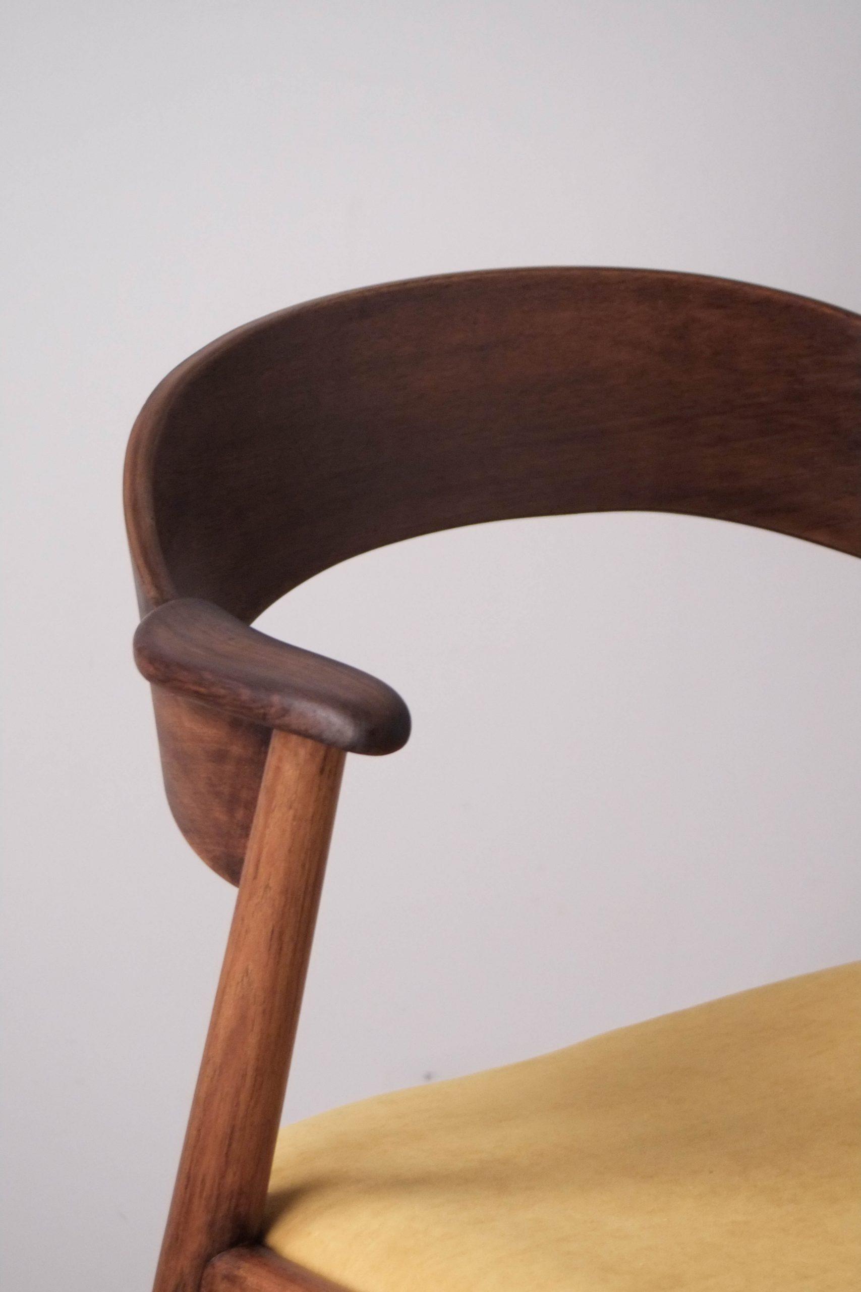 respaldo comodo silla de madera maciza vintage nordica