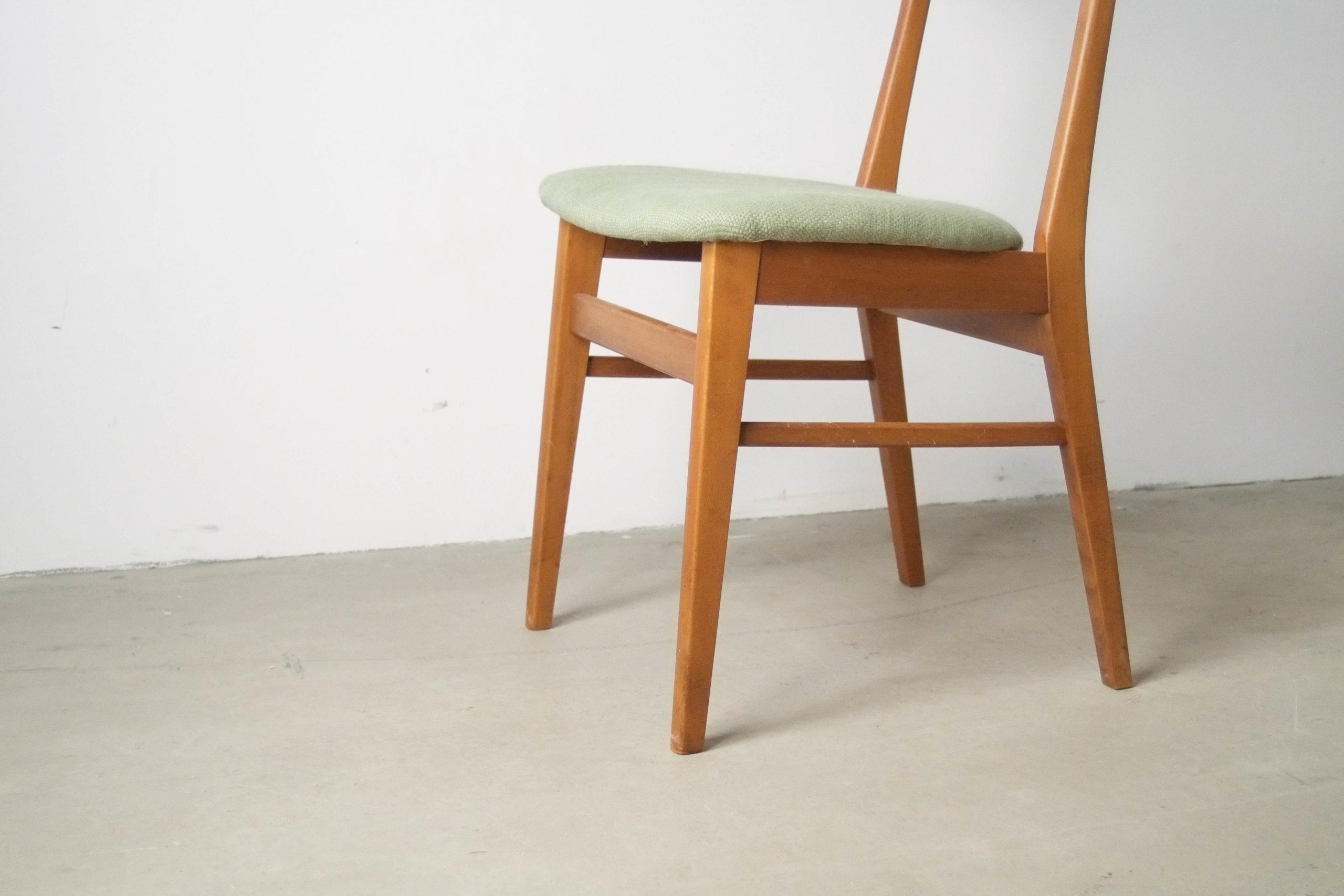 silla farstrup teca madera verde vintage retro comedor