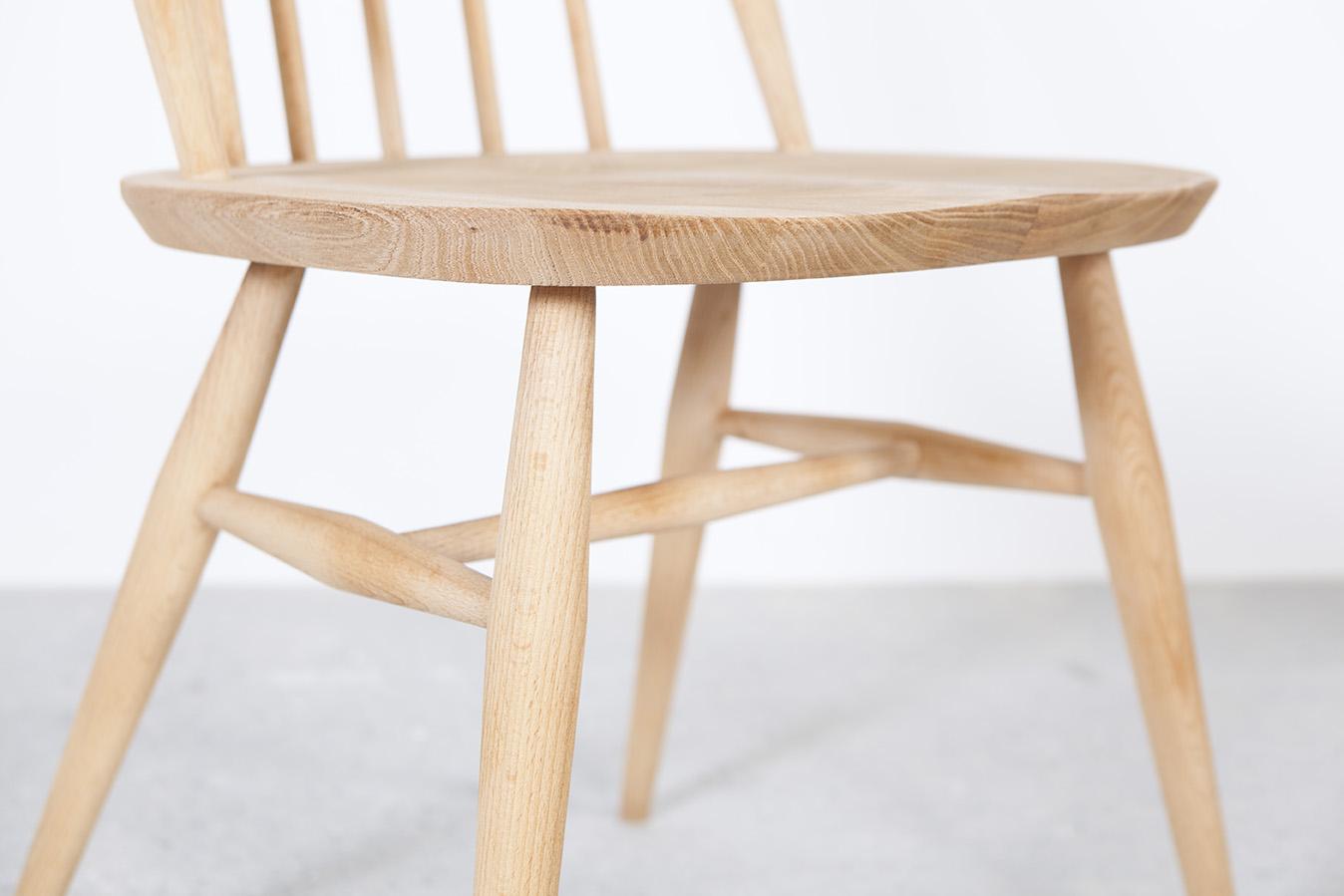 silla de madera original vintage ercol ercolani ligera elegante de comedor