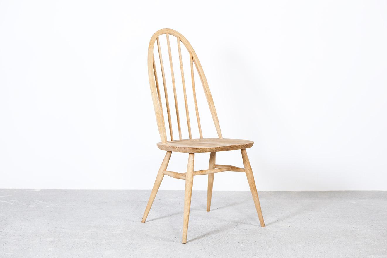 silla inglesa windsor de comedor madera de olmo hecha a mano