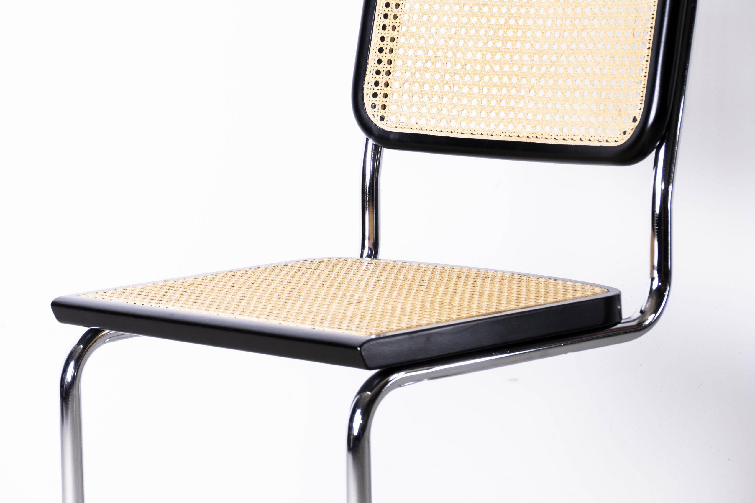 silla cesca acero tubular y haya caña trenzada bauhaus diseño instagram