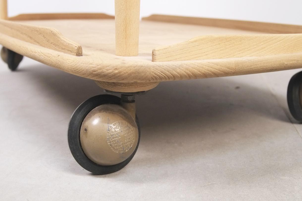 camarera ercol mueble mid century olmo ruedas bar carrito