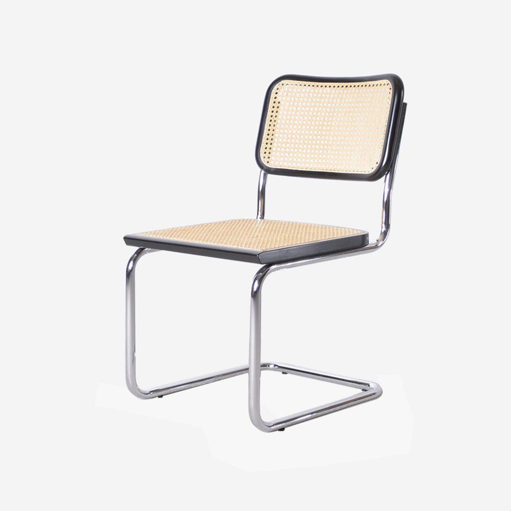 silla cesca bauhaus de caña trenzada