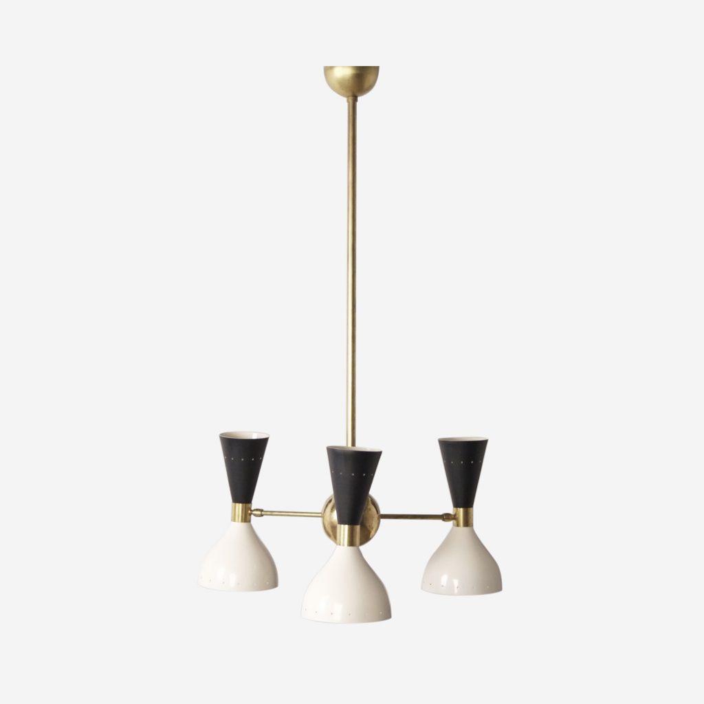lampara de techo italiana retro vintage laton