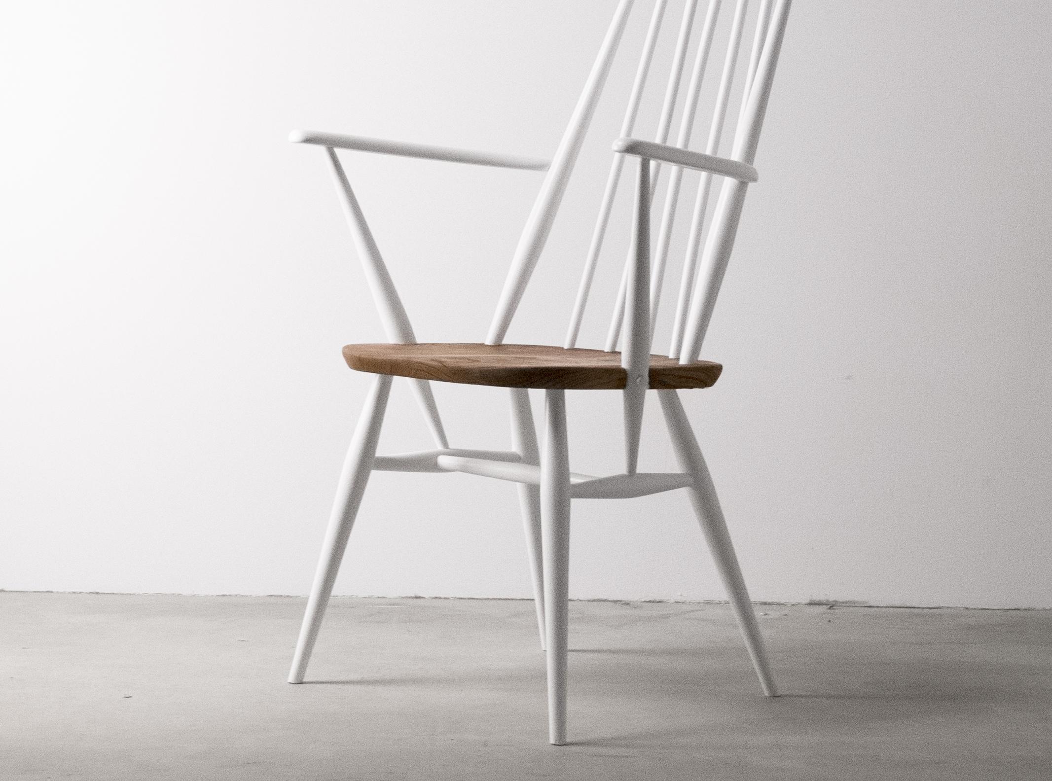 silla de barrotes de diseño ercol de madera