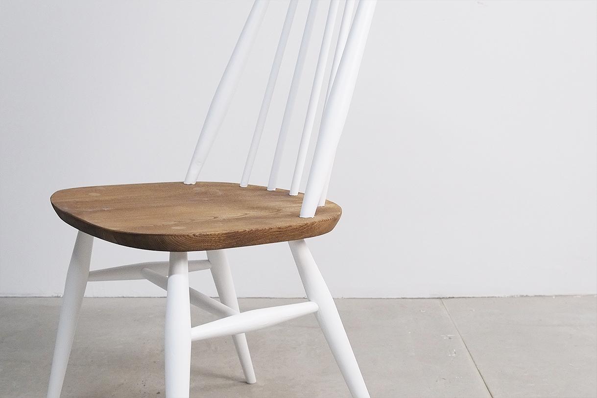 silla de diseño vintage años 60 ercol de comedor de cocina windsor uk reino unido